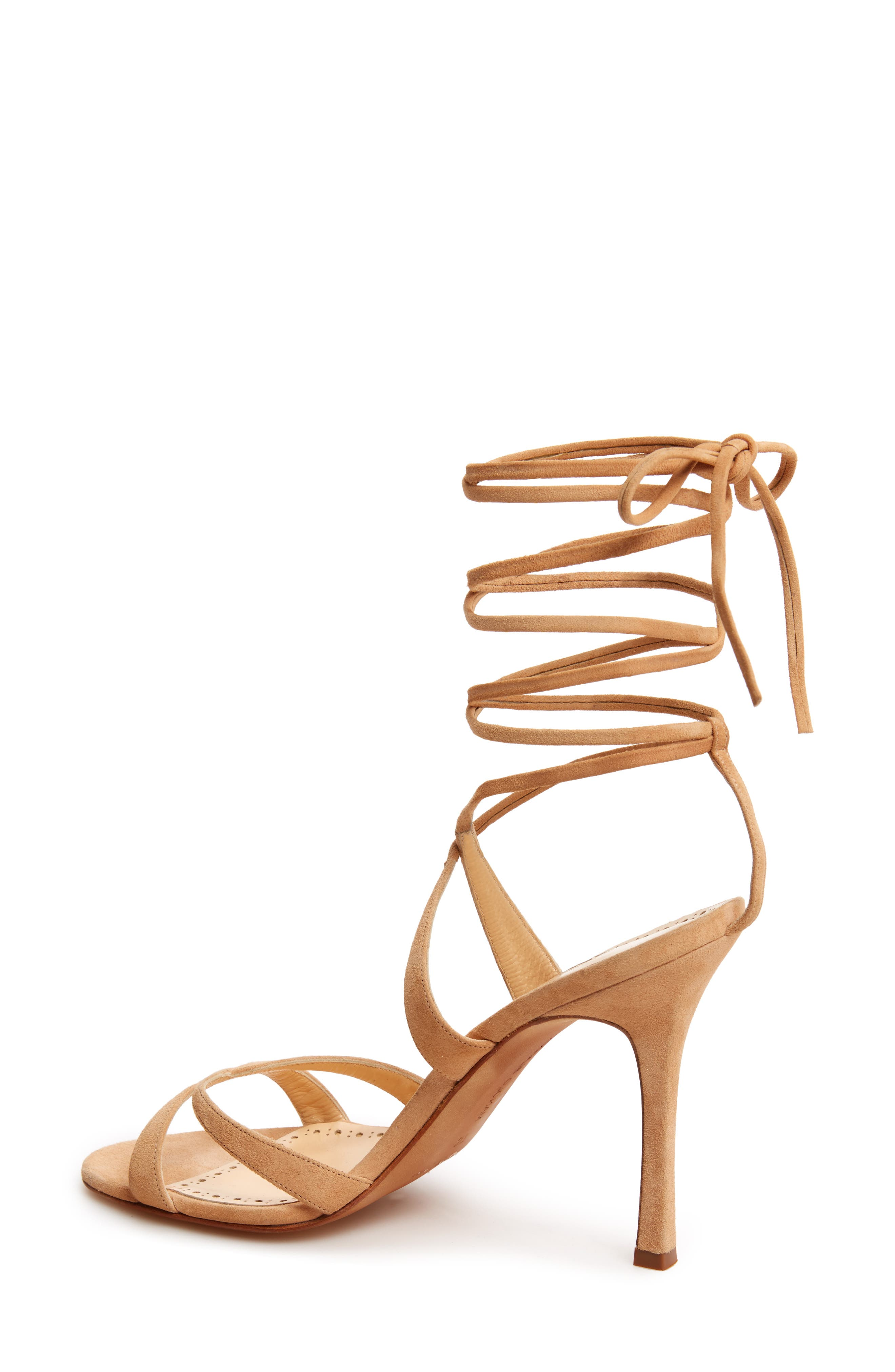 Criss Ankle Tie Sandal,                             Alternate thumbnail 2, color,                             Light Camel