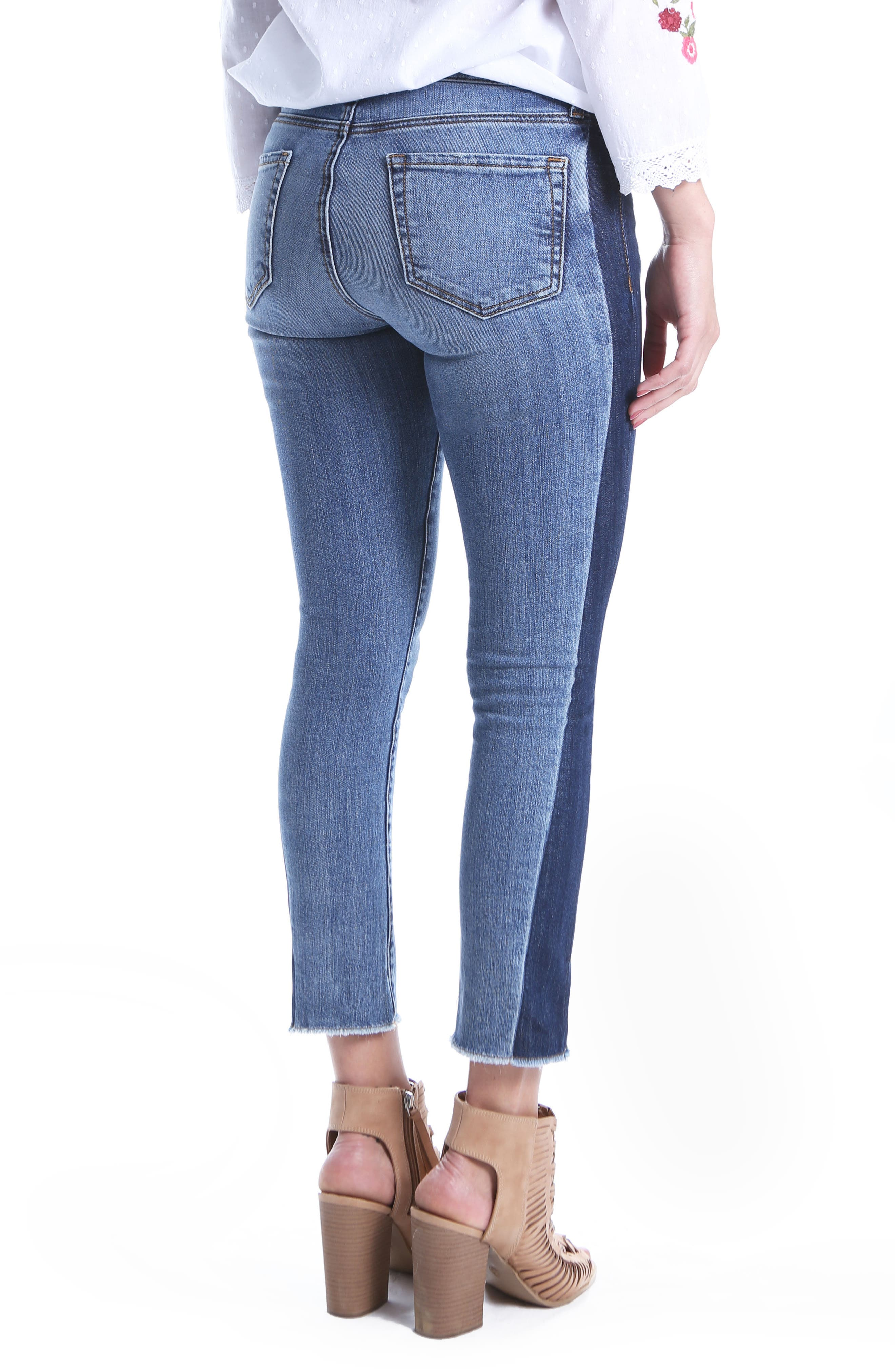 Reese Patch Jeans,                             Alternate thumbnail 3, color,                             Transforming