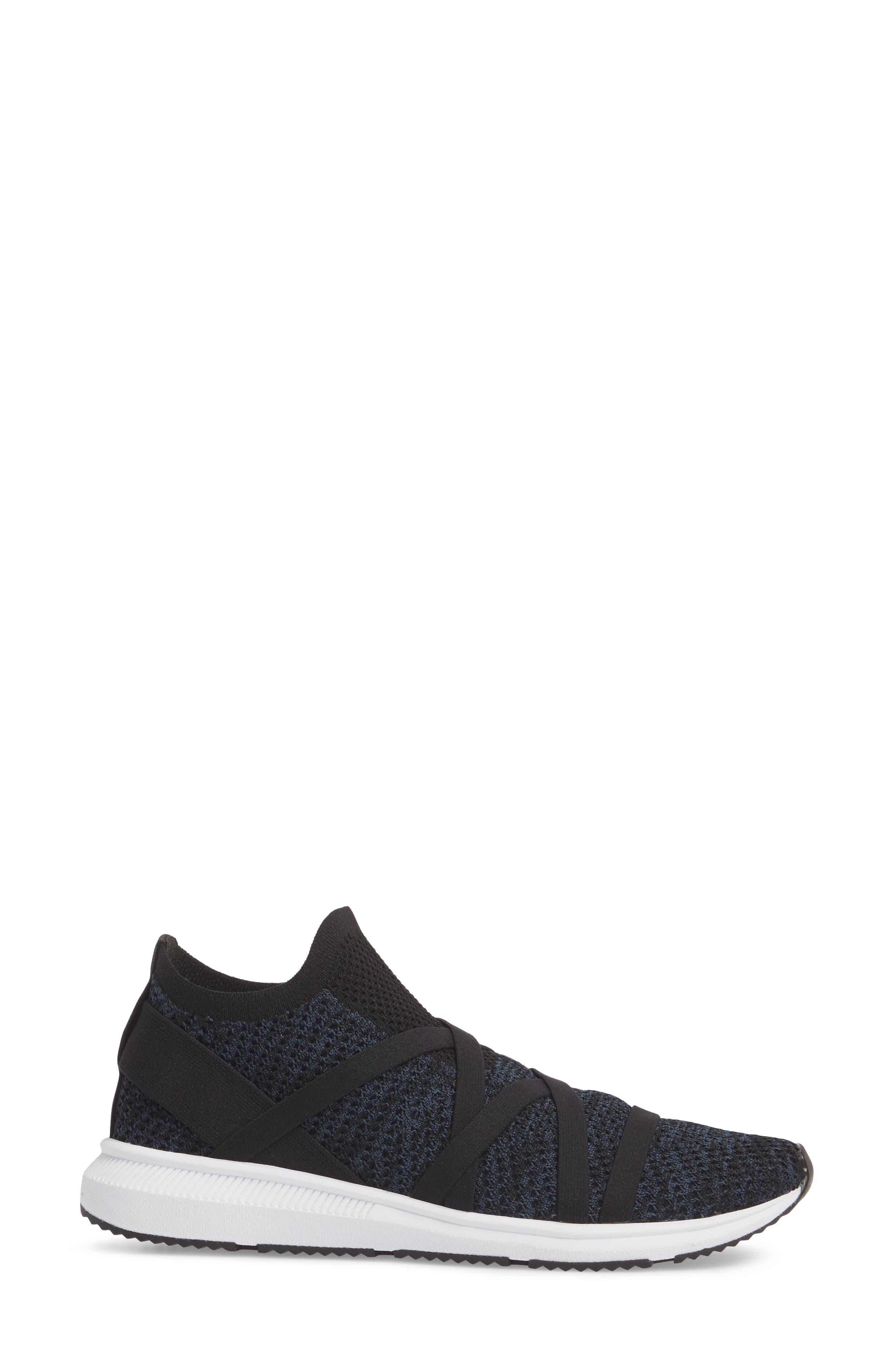 Xanady Woven Slip-On Sneaker,                             Alternate thumbnail 3, color,                             Black/ Marine Stretch