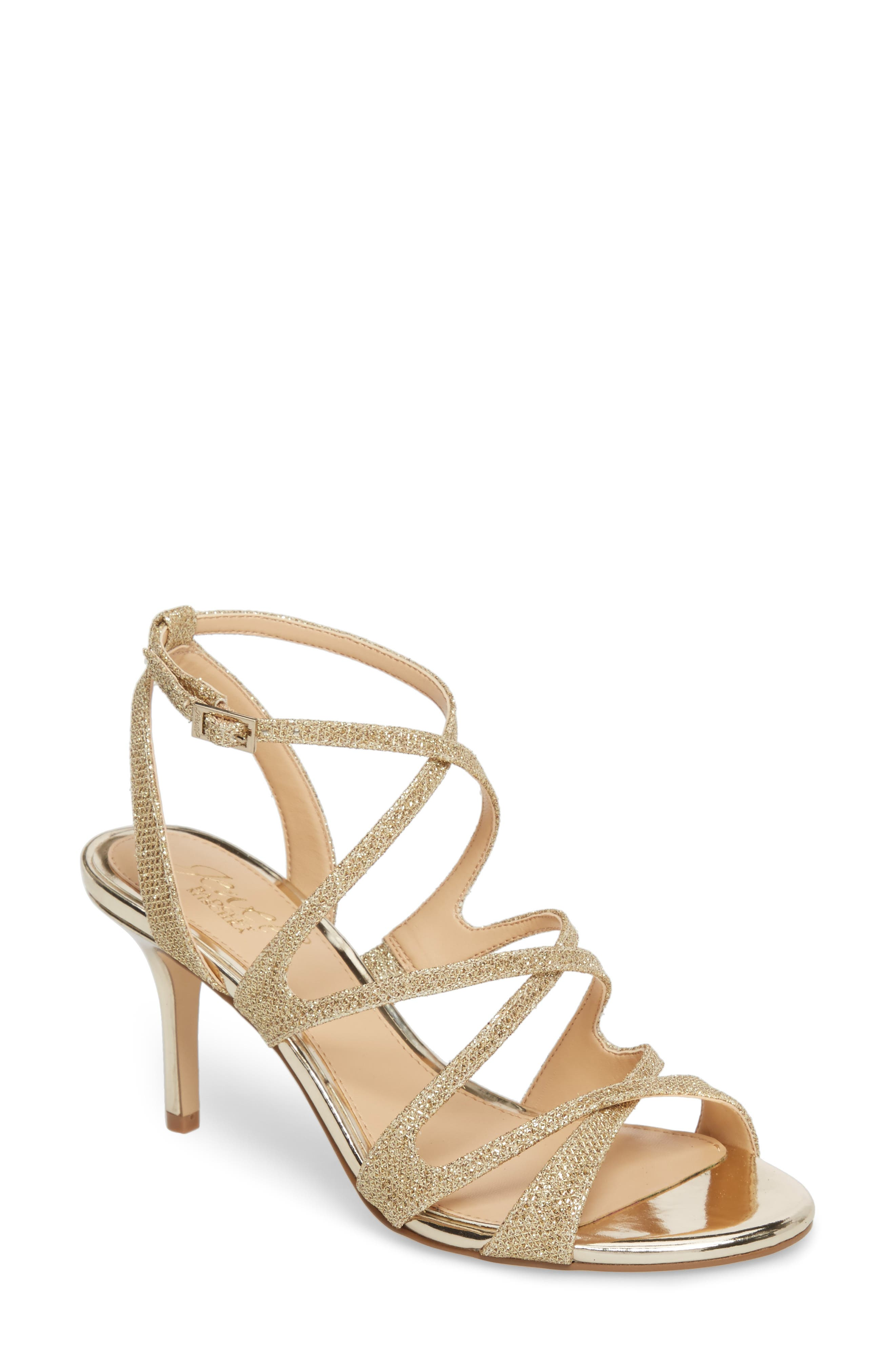 Tasha Glitter Sandal,                             Main thumbnail 1, color,                             Light Gold Glitter