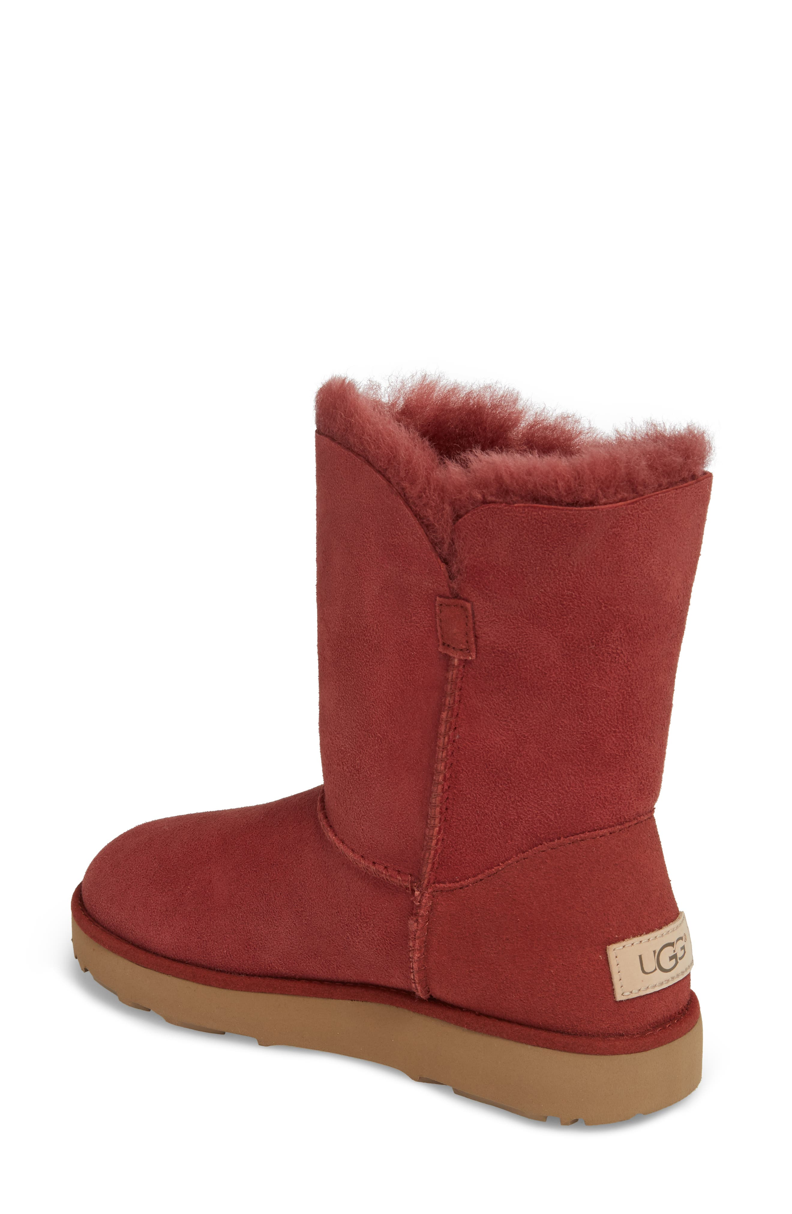 Classic Cuff Short Boot,                             Alternate thumbnail 2, color,                             Red Clay Suede