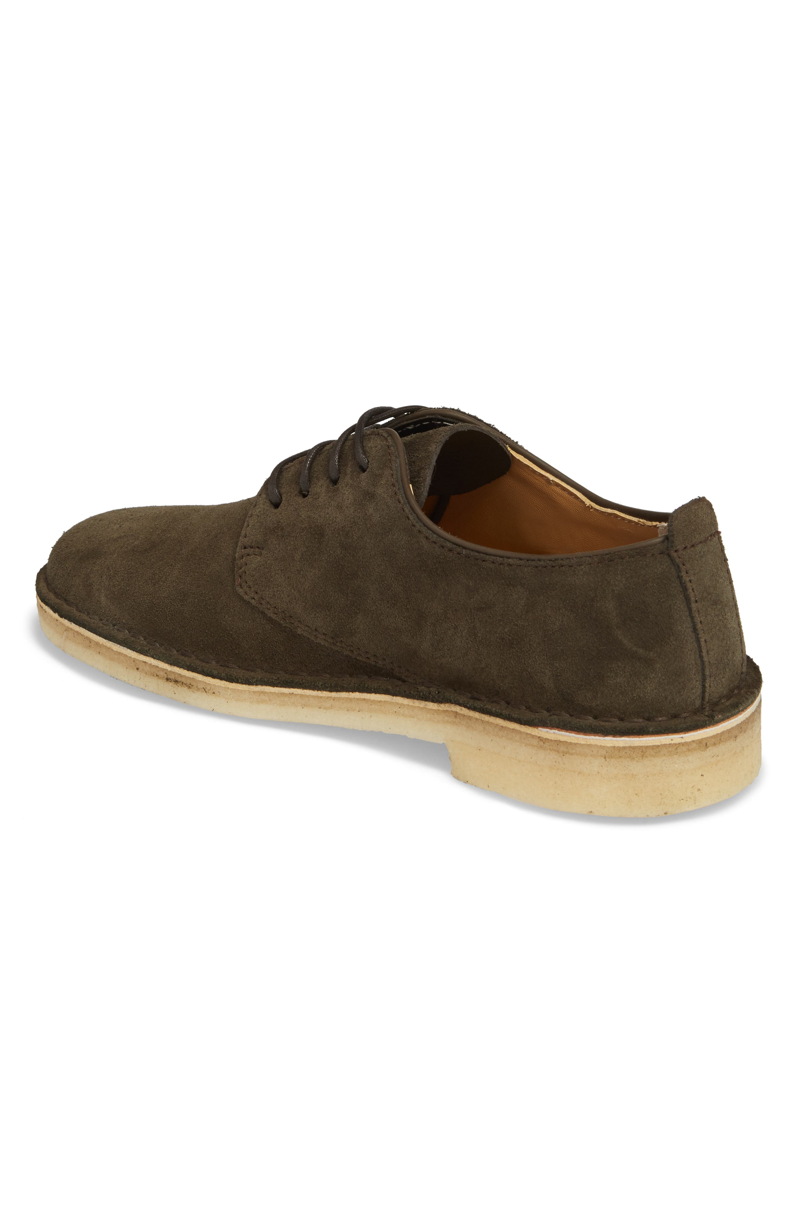 Desert London Suede Plain Toe Derby,                             Alternate thumbnail 2, color,                             Peat Suede