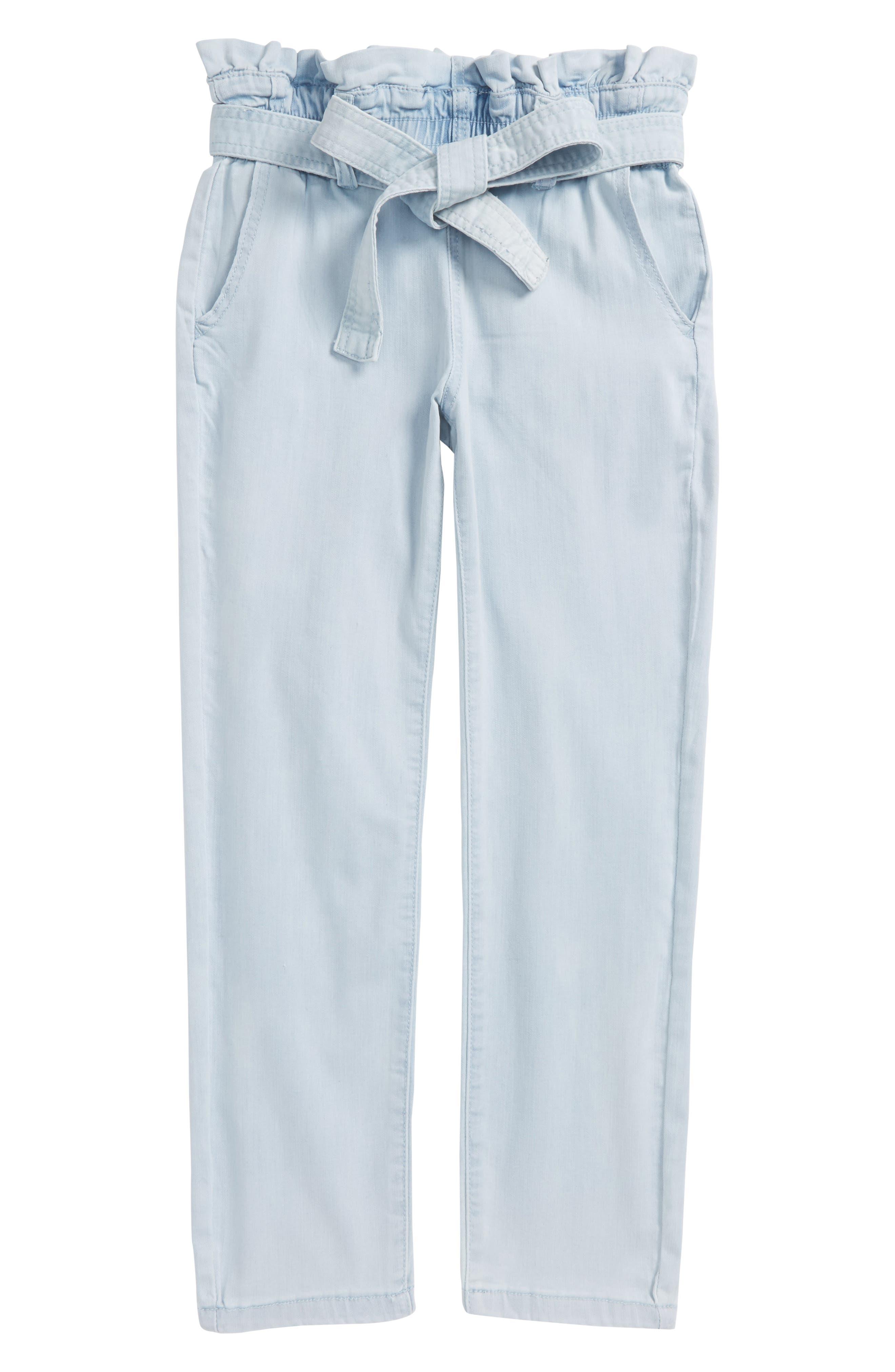 Main Image - ag adriano goldschmied kids Paper Bag Crop Pants (Big Girls)
