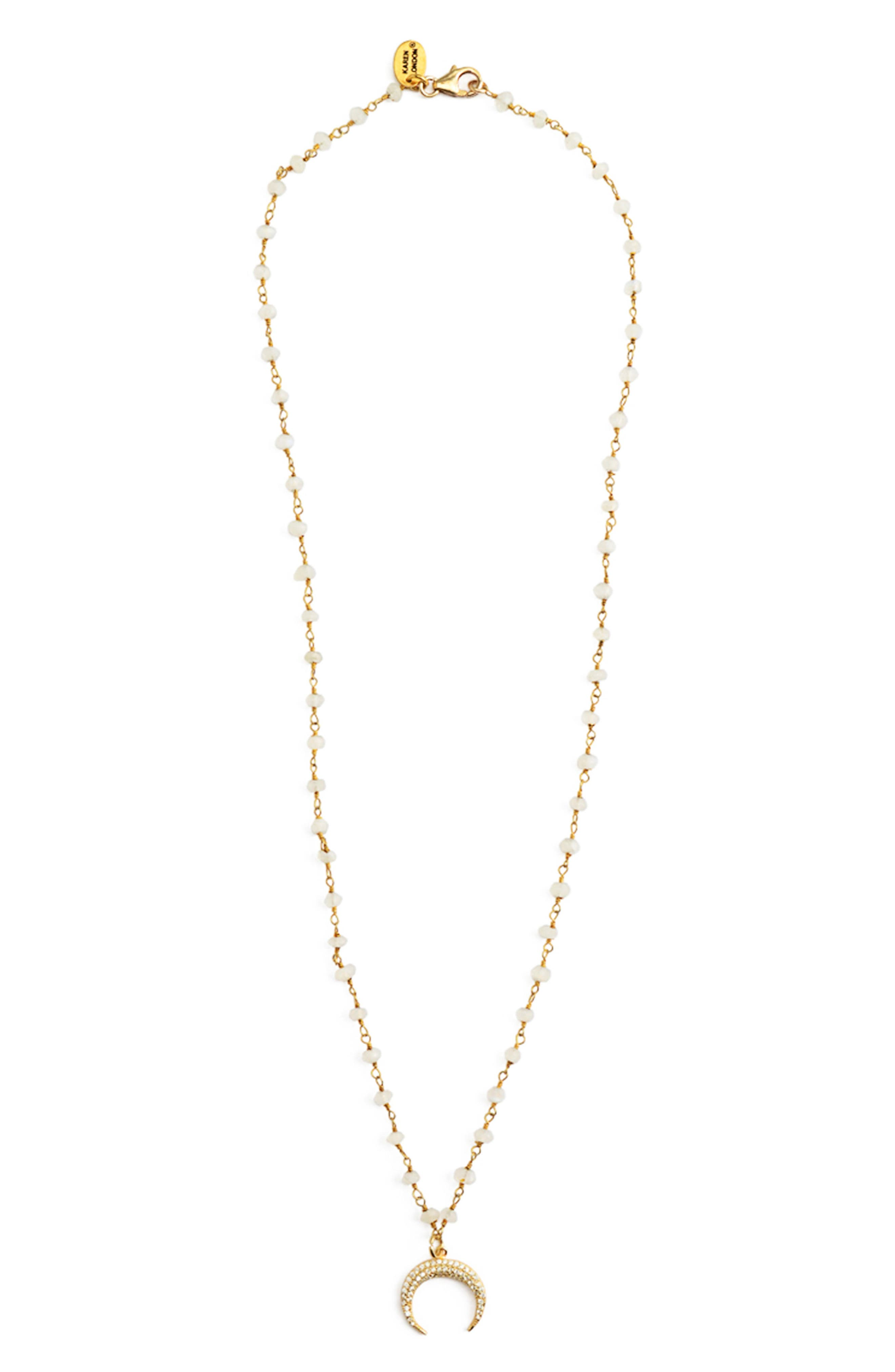 Cellini Pendant Necklace,                         Main,                         color, White