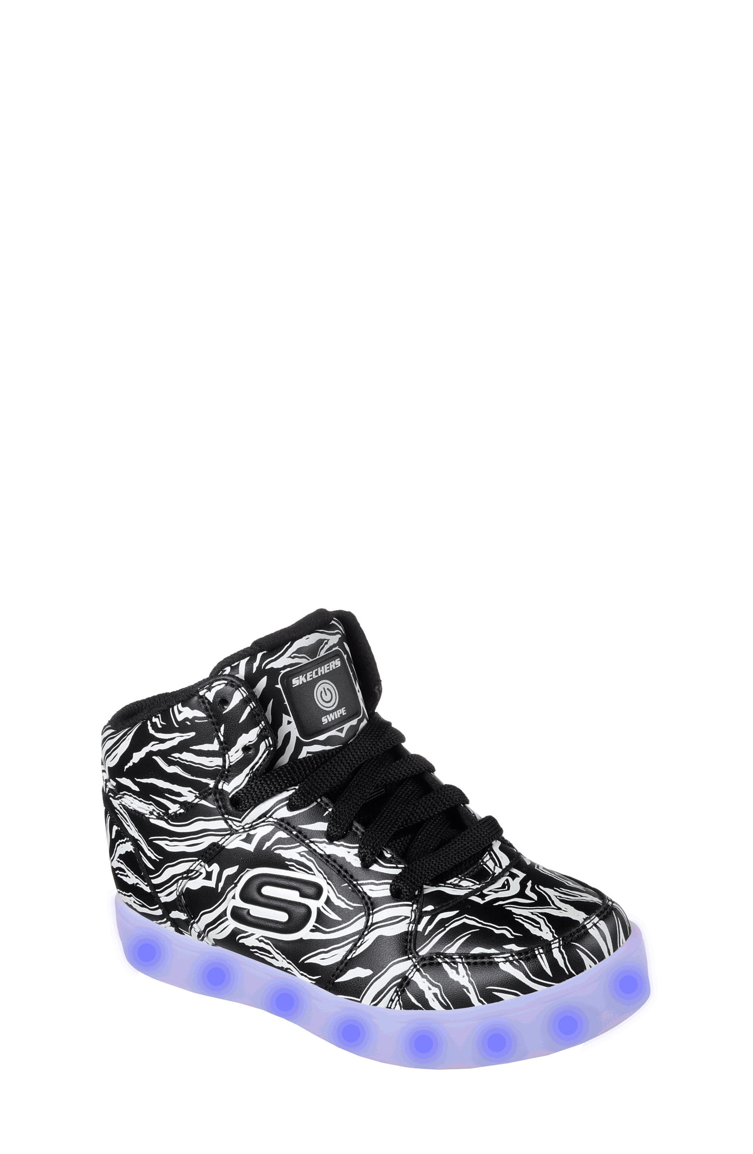 Energy Lights Glow in the Dark Sneaker,                             Alternate thumbnail 2, color,                             Black
