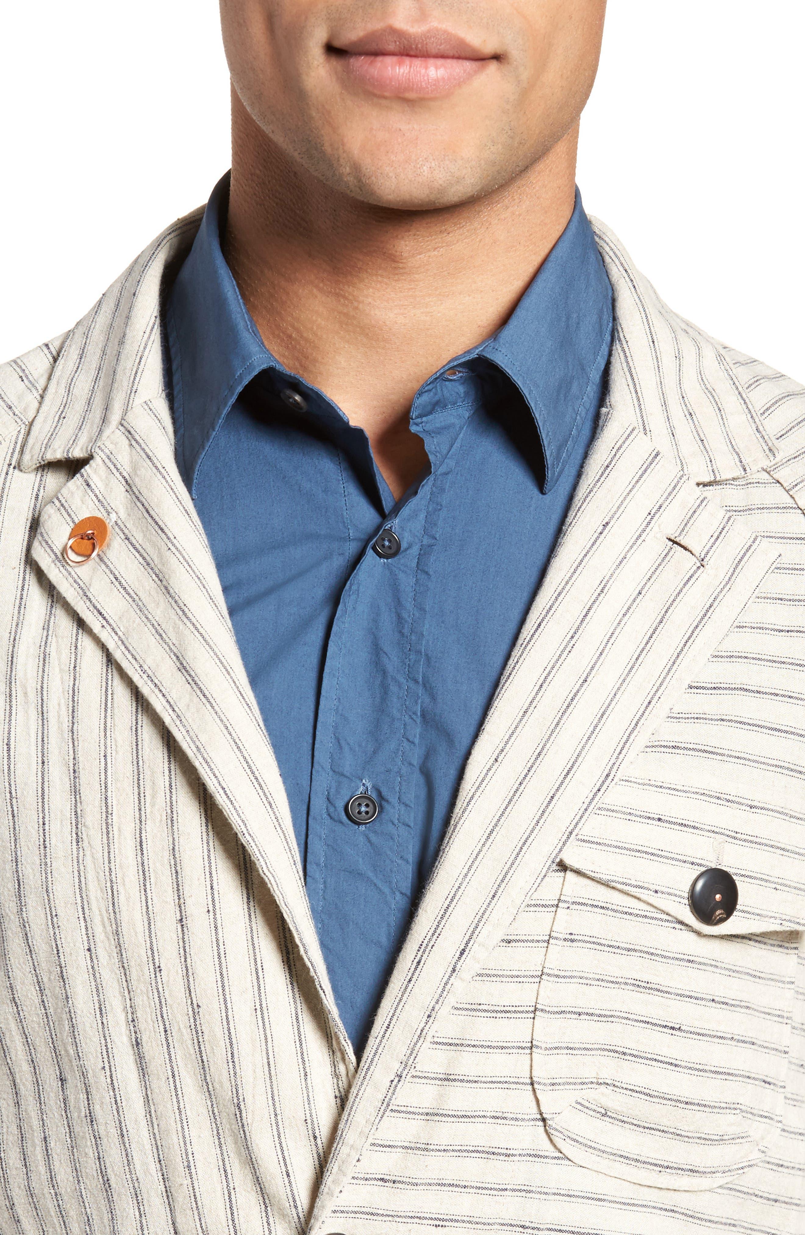 Alternate Image 4  - Billy Reid Harrison Linen & Cotton Jacket