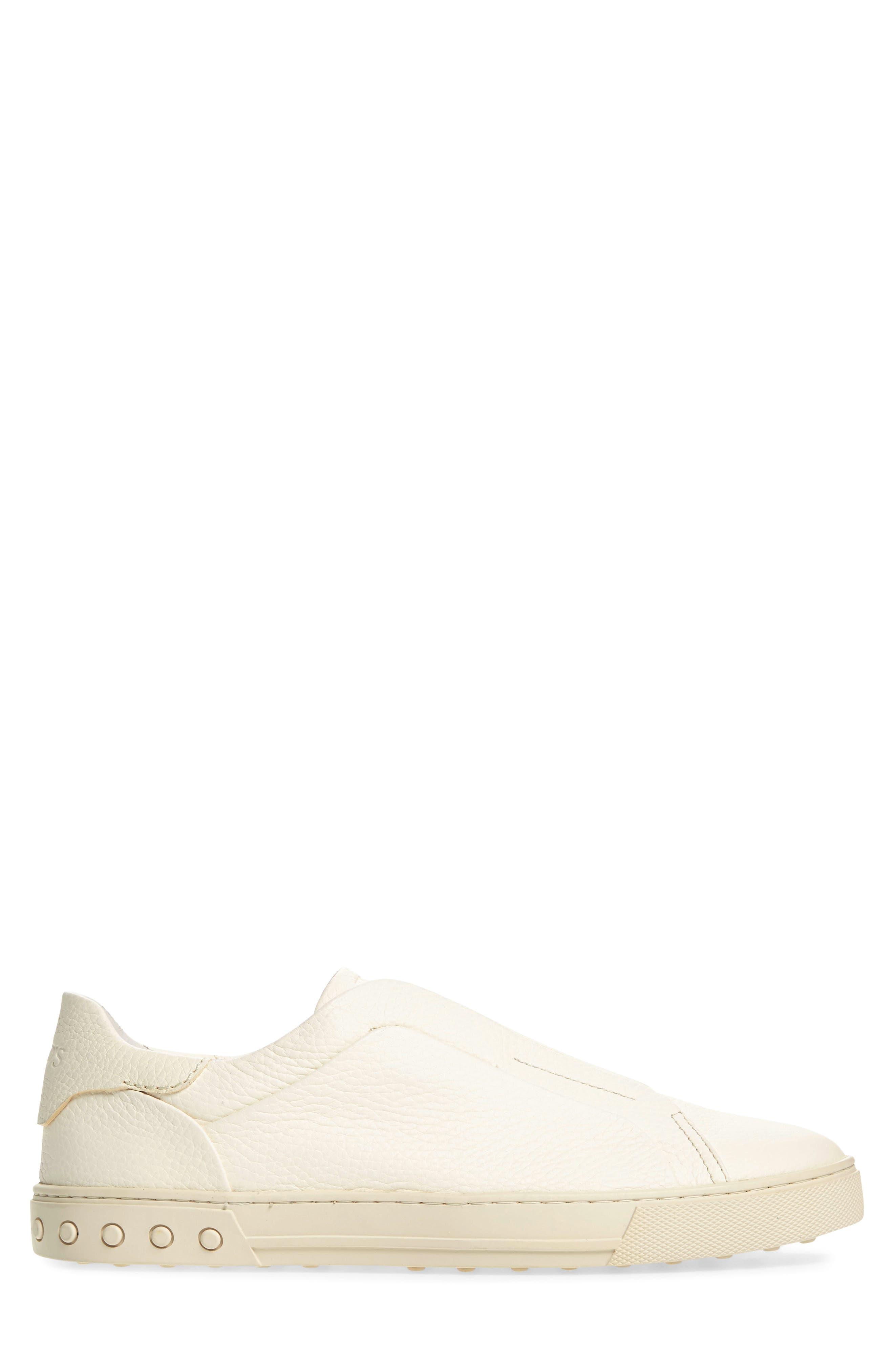 Cassetta Slip-on Sneaker,                             Alternate thumbnail 3, color,                             White