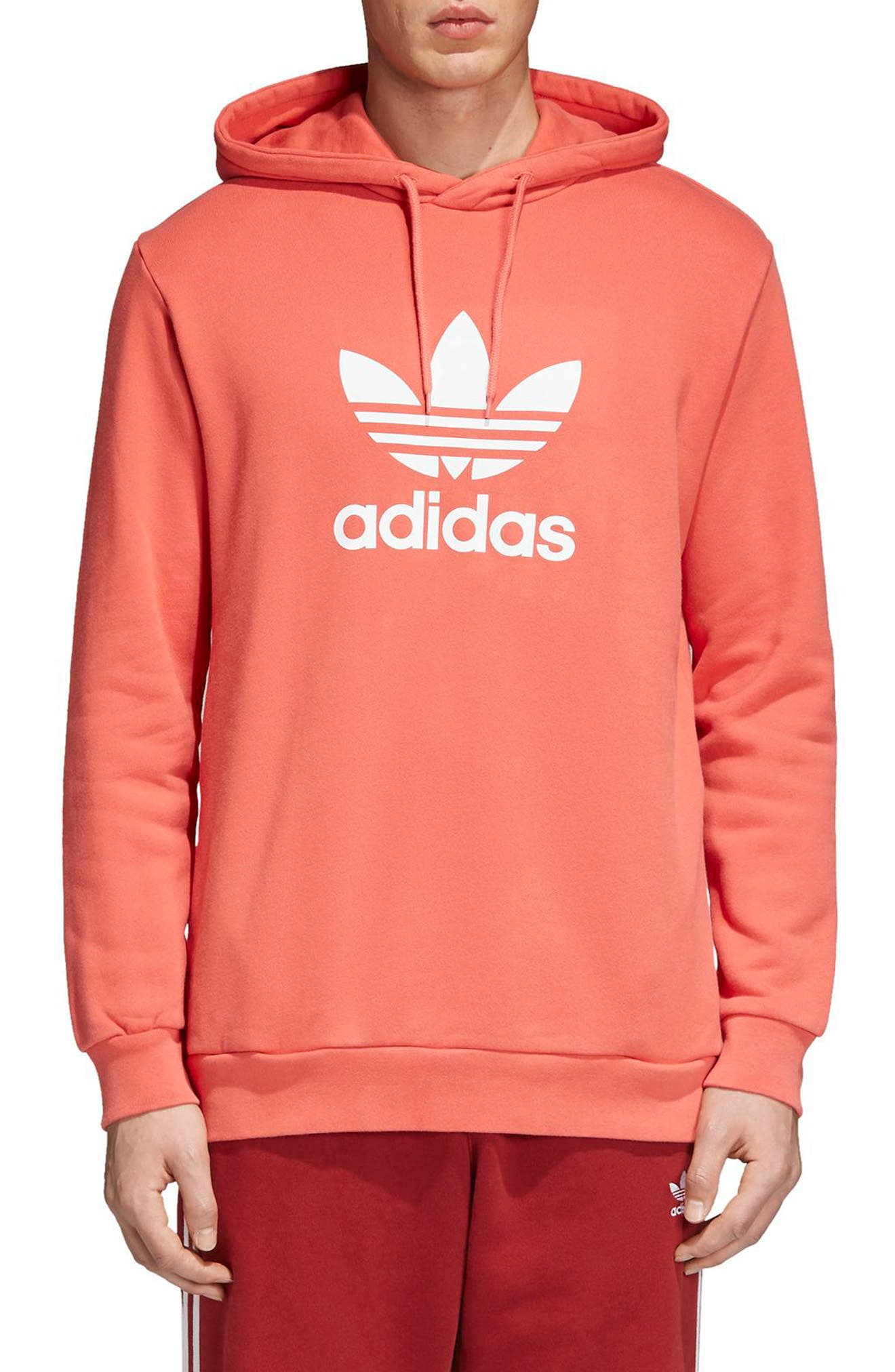 Trefoil Graphic Hoodie,                             Main thumbnail 1, color,                             Trasca