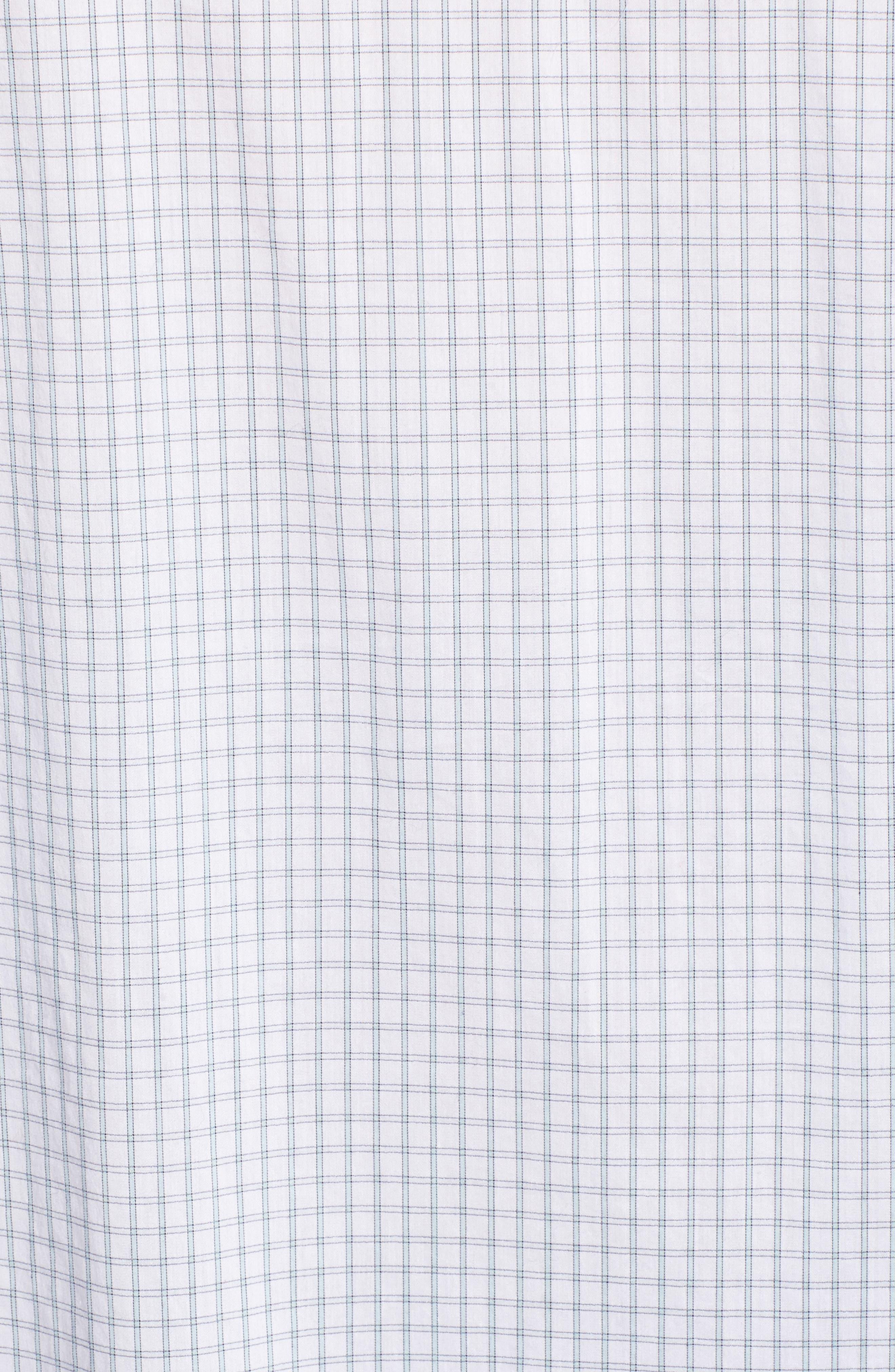 Oversize Check Shirt,                             Alternate thumbnail 5, color,                             White Blue Poplin Check