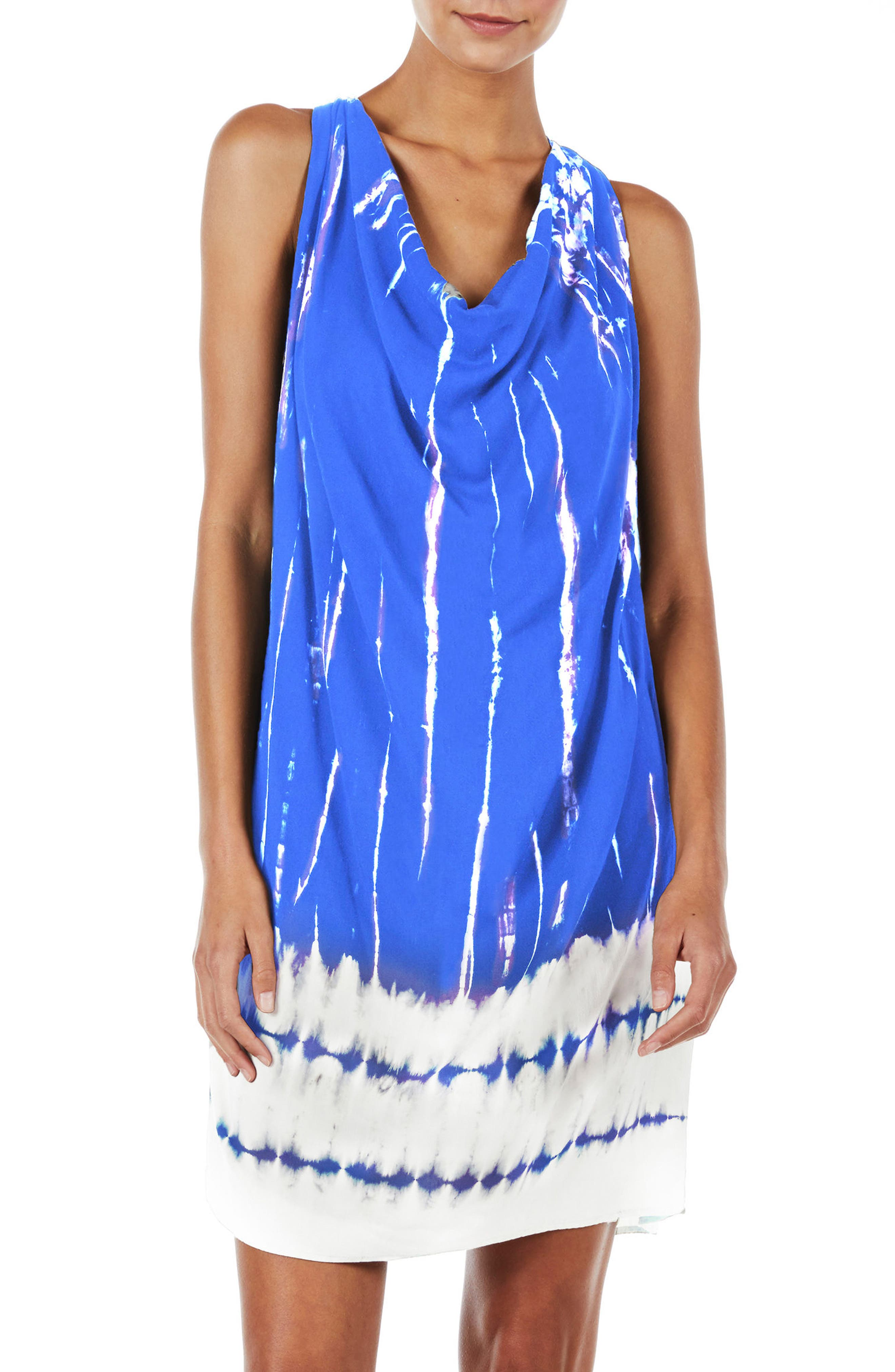 Alternate Image 1 Selected - Michael Stars Tie Dye A-Line Dress