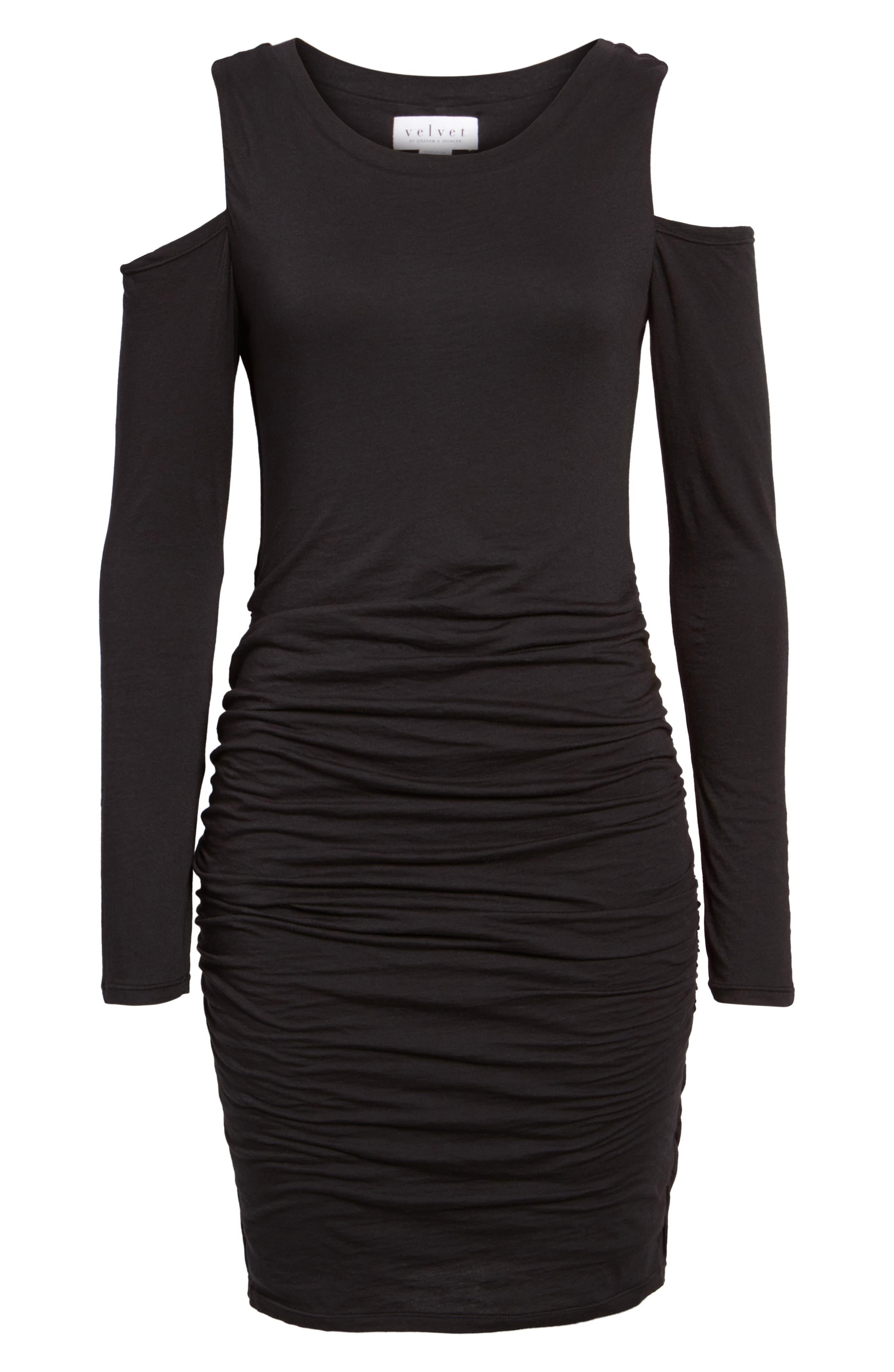 Alternate Image 6  - Velvet by Graham & Spencer Gauzy Whisper Cold Shoulder Dress
