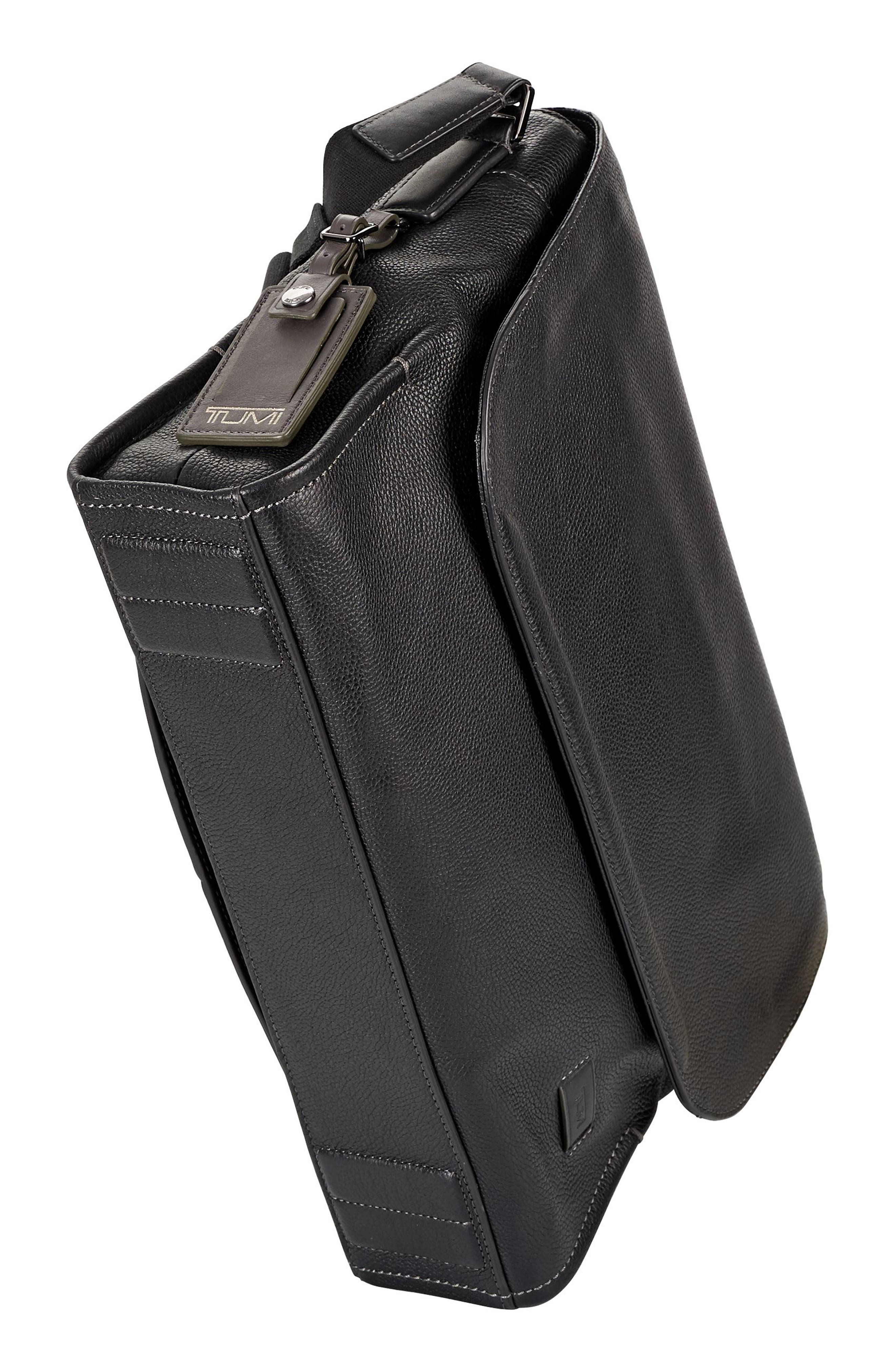 Harrison - Mathews Messenger Bag,                             Alternate thumbnail 5, color,                             Black
