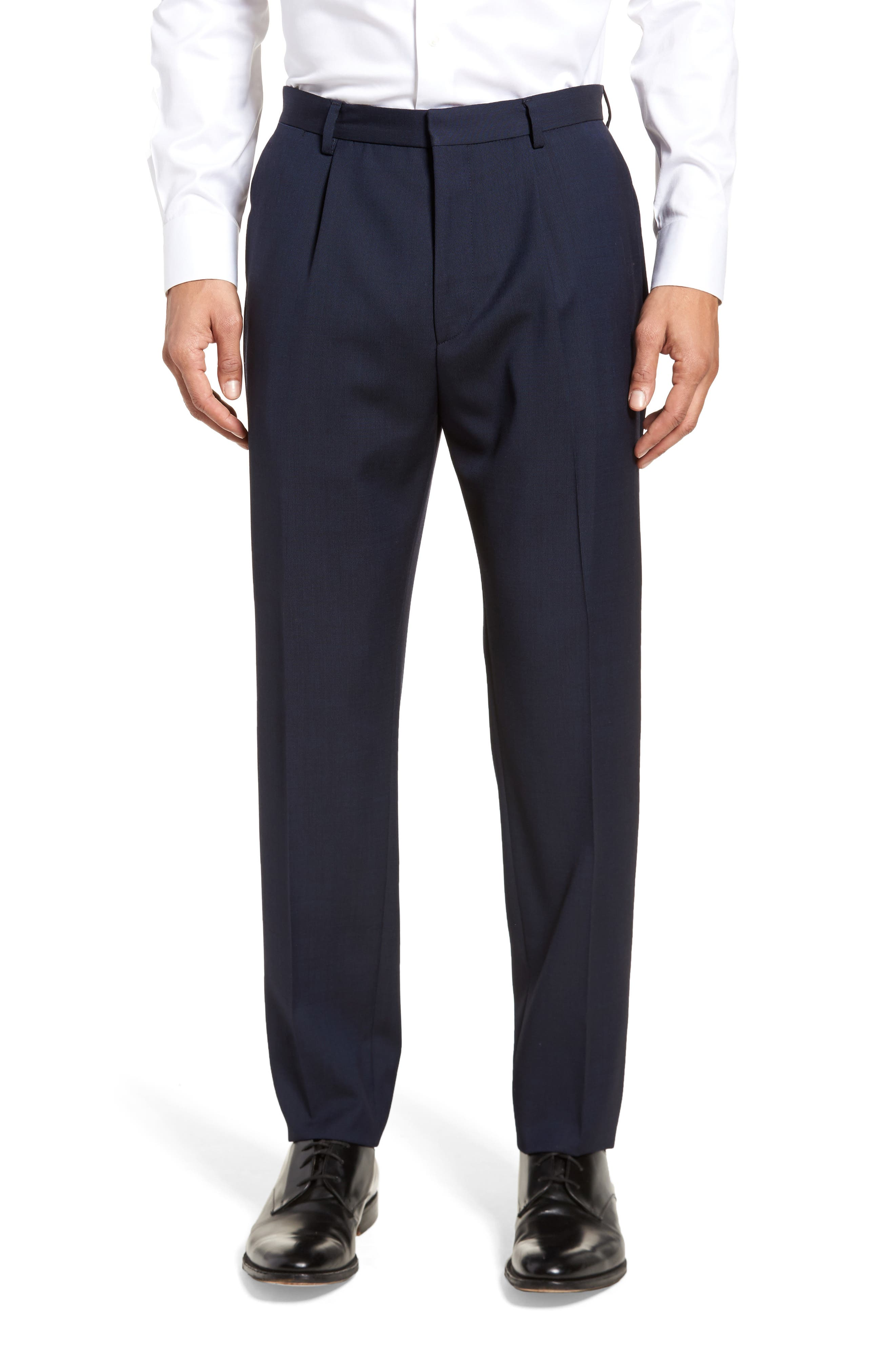 Nylen/Perry Trim Fit Solid Wool Suit,                             Alternate thumbnail 6, color,                             Navy
