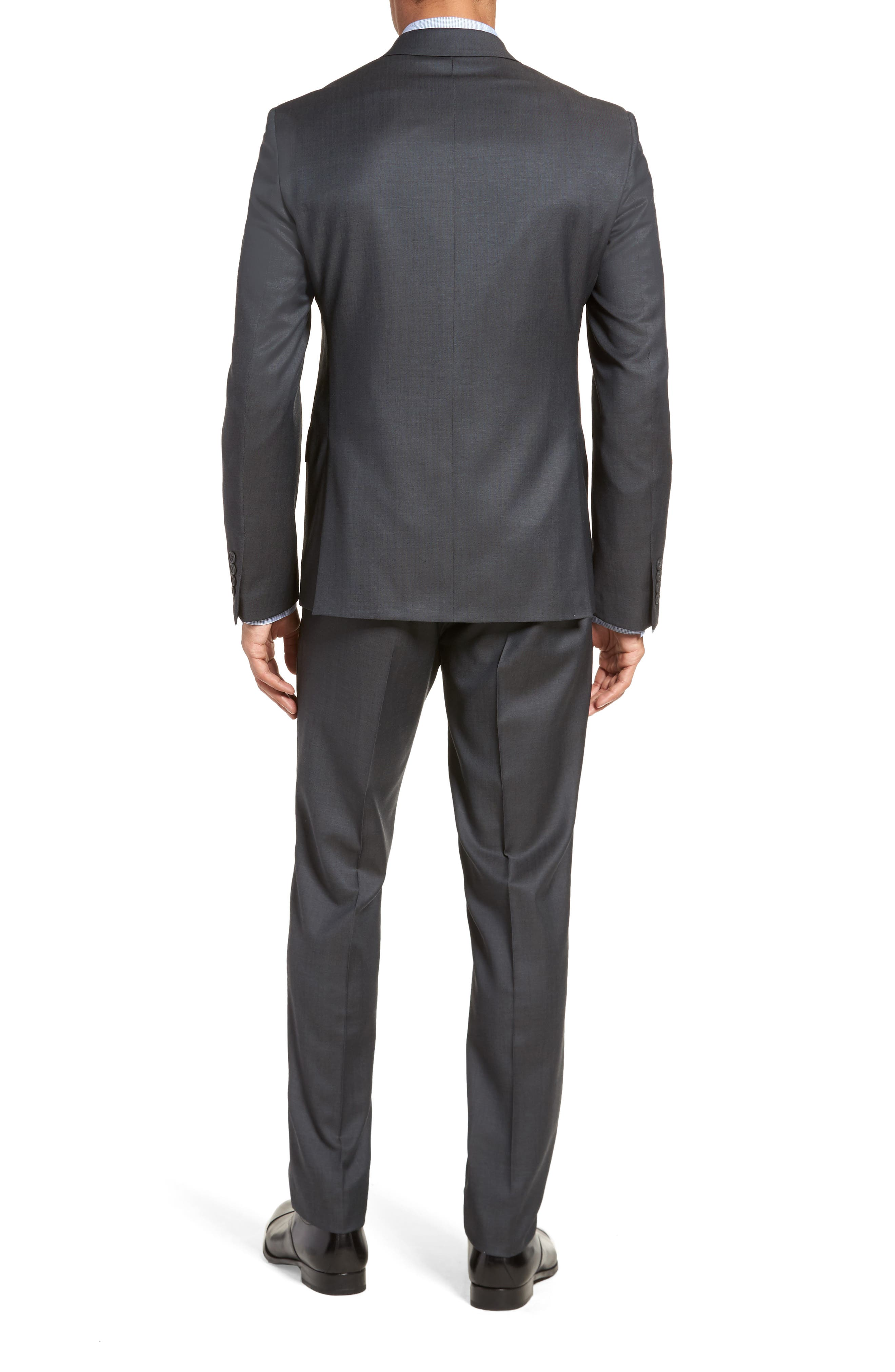 Extra Trim Fit Solid Wool Suit,                             Alternate thumbnail 2, color,                             Charcoal