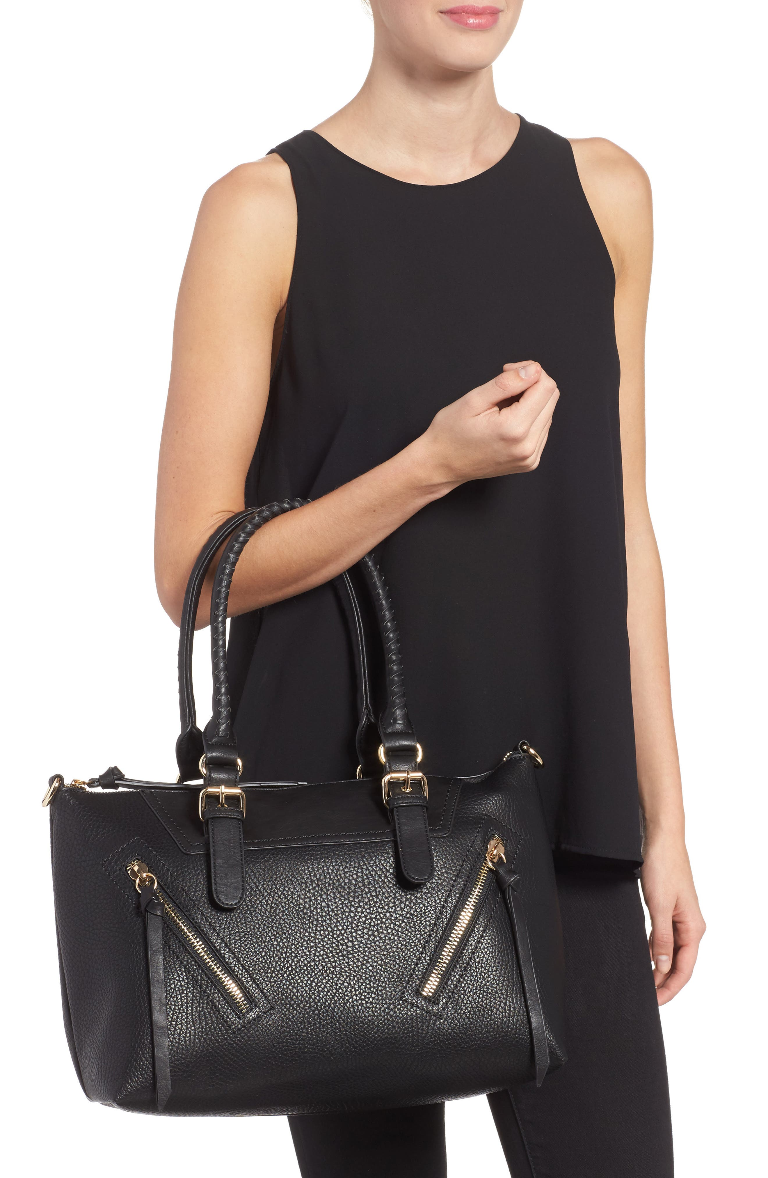 Alternate Image 2  - Sole Society Girard Faux Leather Satchel