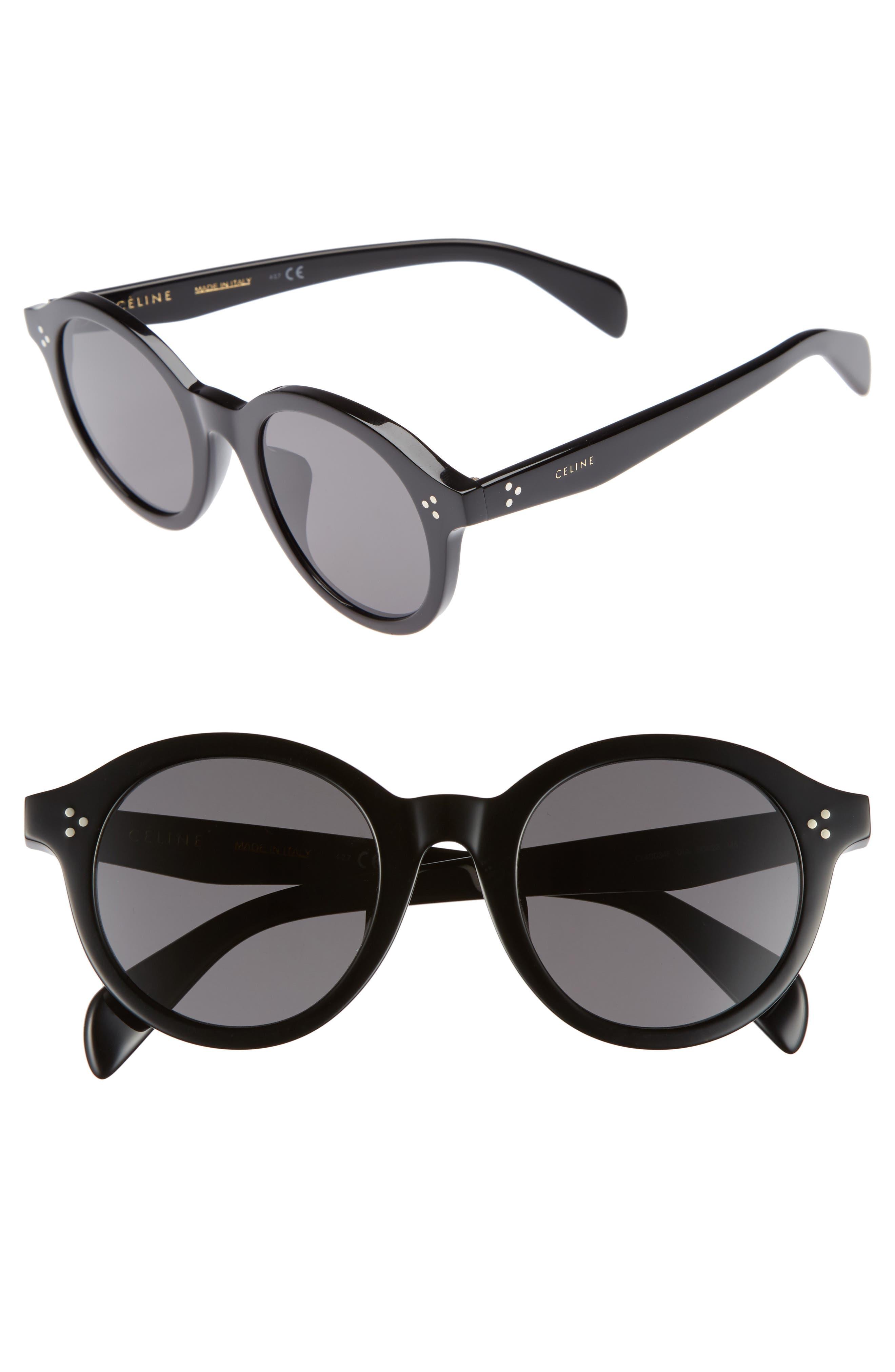 Céline Special Fit 50mm Round Sunglasses