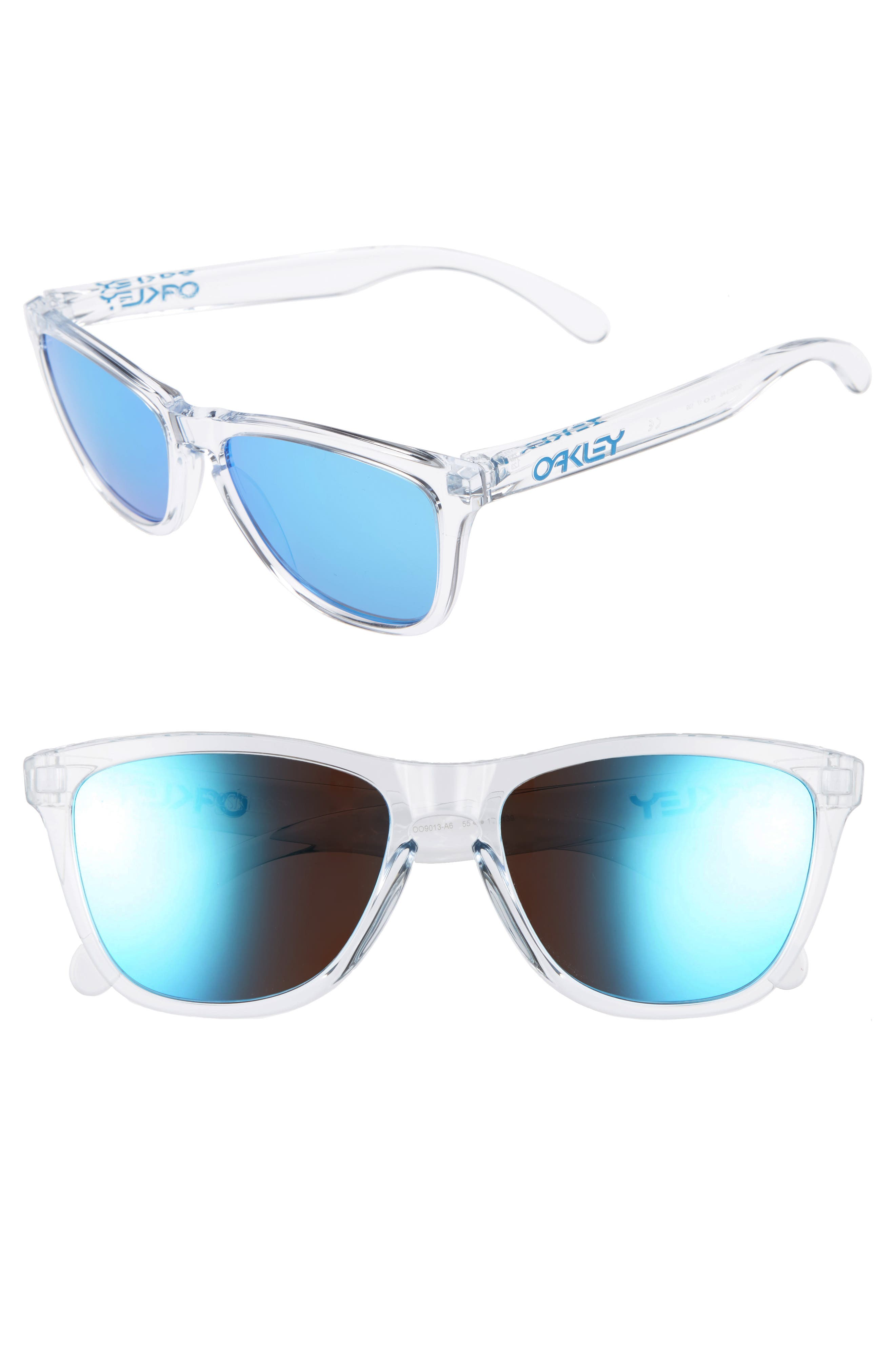 Frogskins<sup>®</sup> 55mm Sunglasses,                             Main thumbnail 1, color,                             Sapphire Iridescent