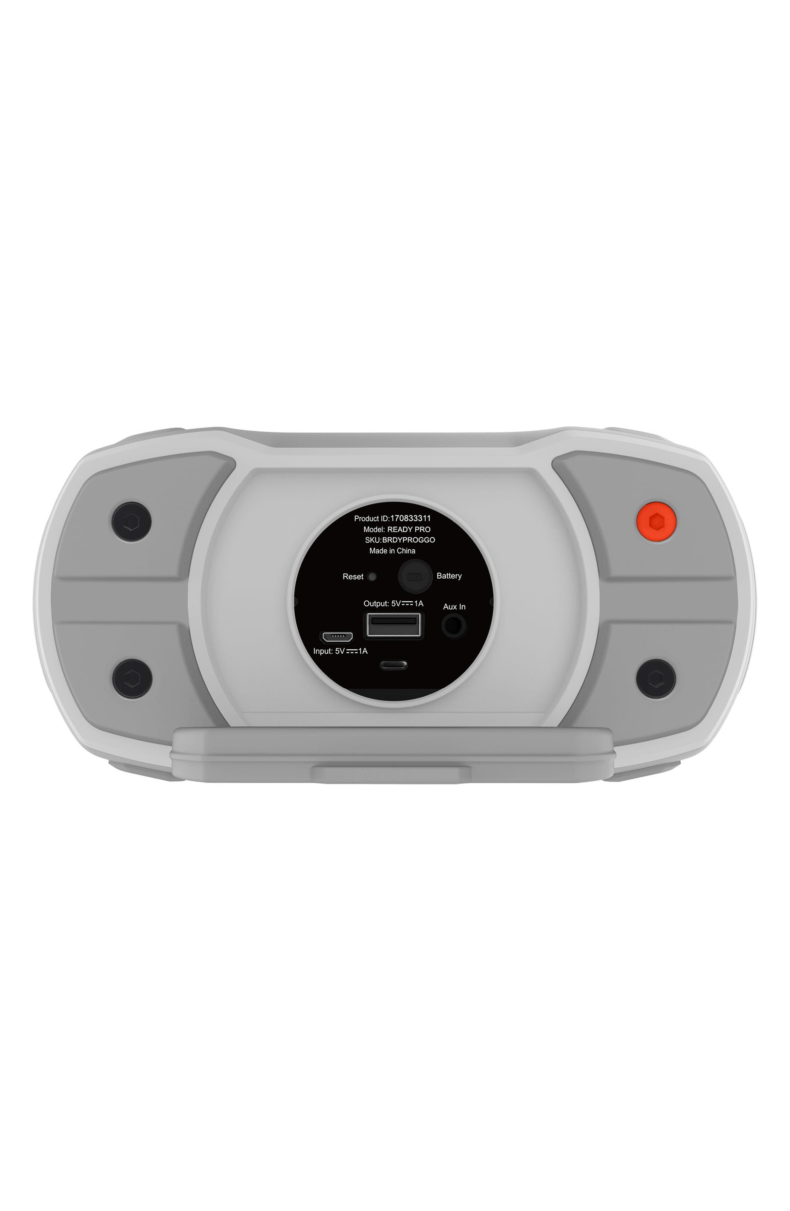 Ready Pro Bluetooth<sup>®</sup> Speaker,                             Alternate thumbnail 6, color,                             Grey/ Orange