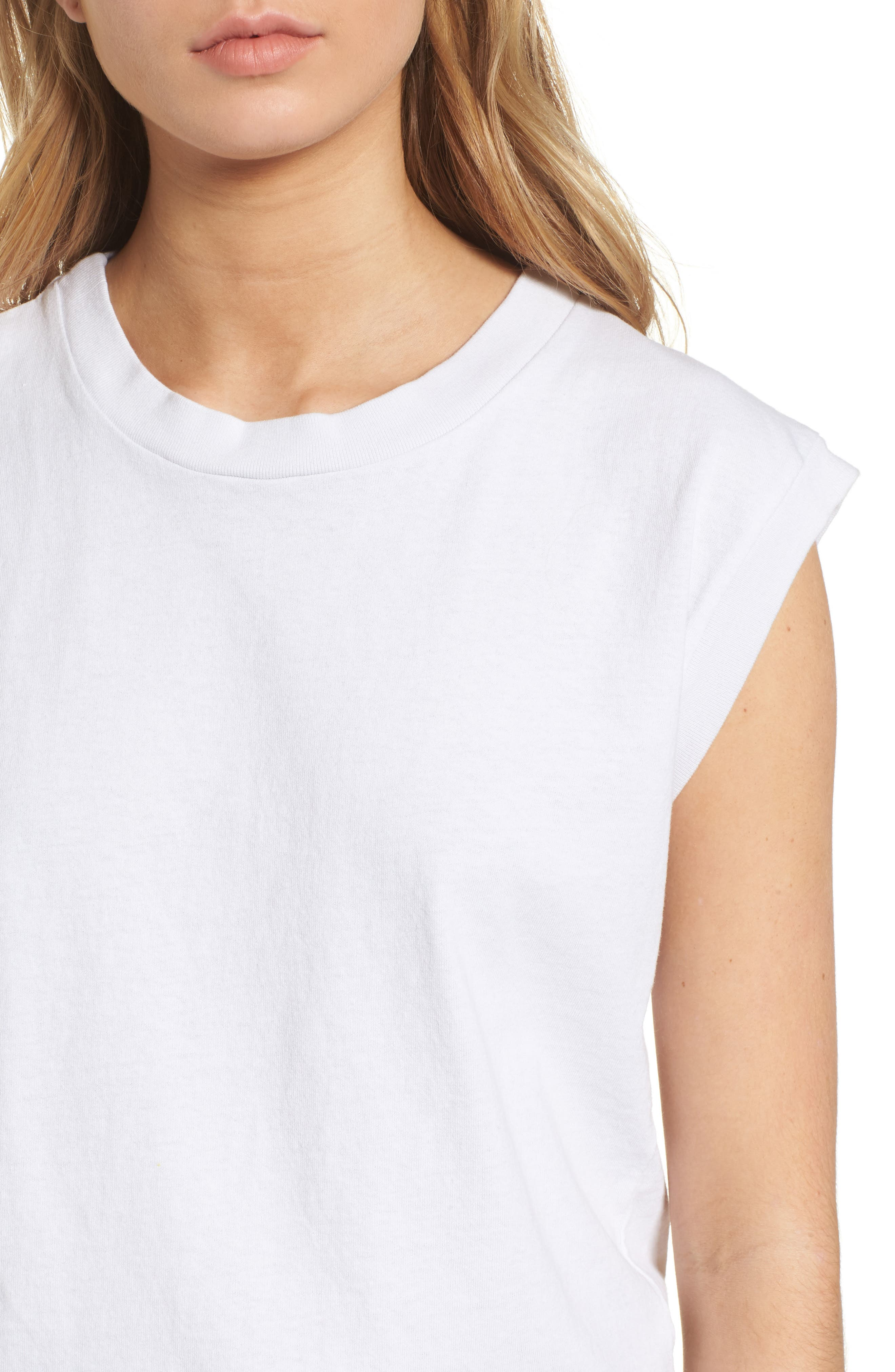 Tee Lab Muscle Tank,                             Alternate thumbnail 4, color,                             Dirty White