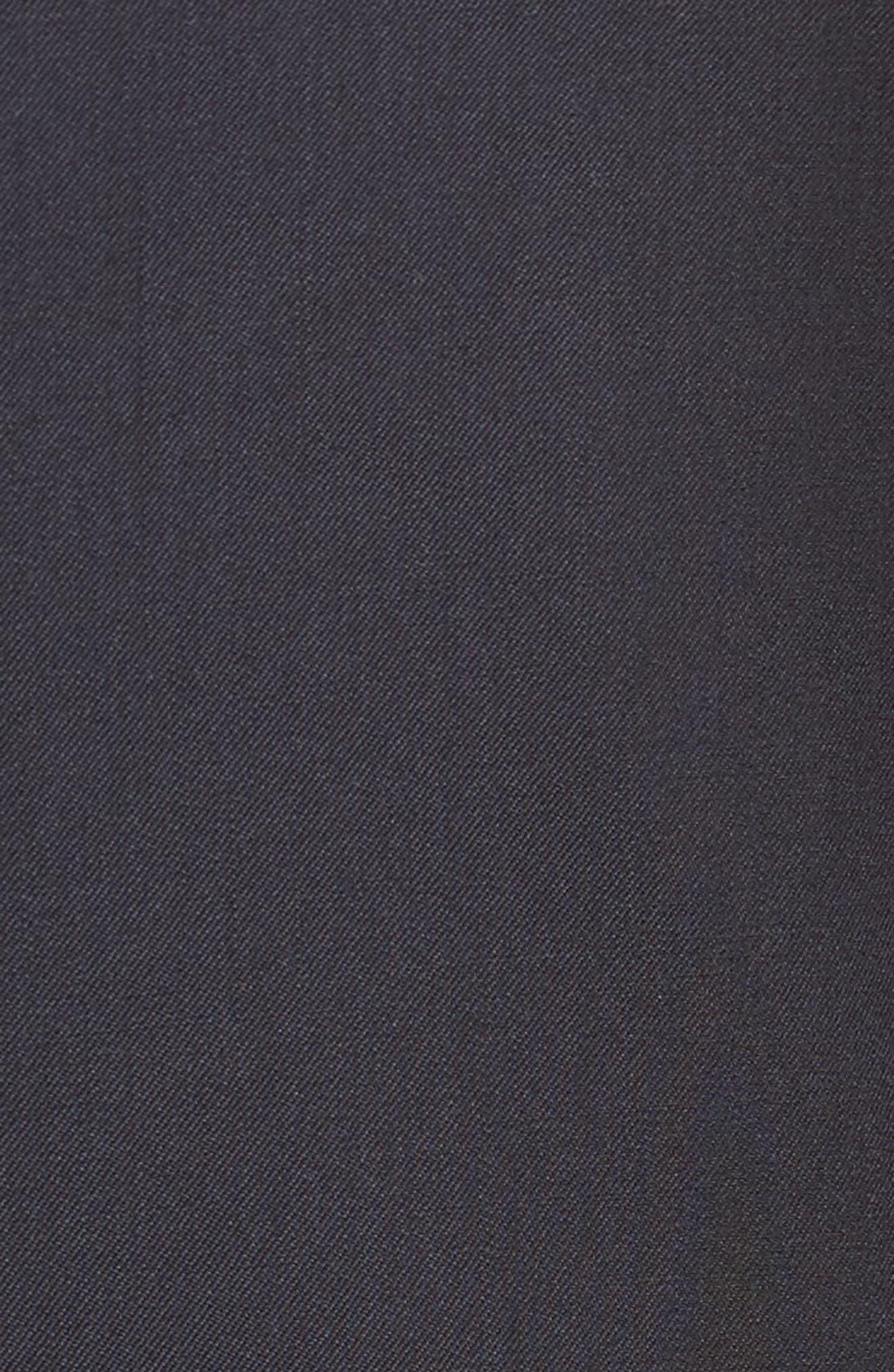 Trim Fit Solid Wool Suit,                             Alternate thumbnail 7, color,                             Navy