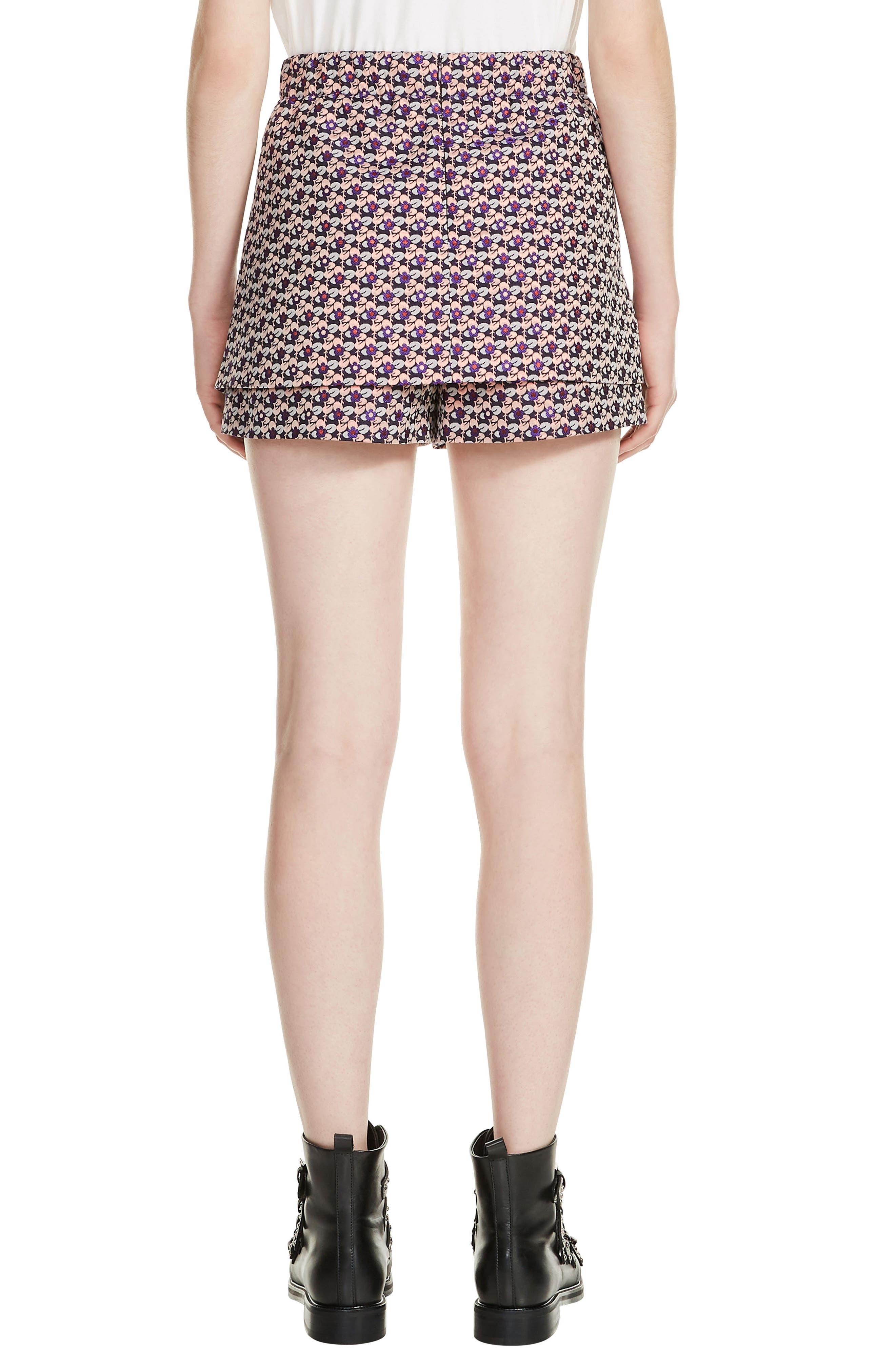 Jacquard Skirt Front Shorts,                             Alternate thumbnail 2, color,                             Jacquard