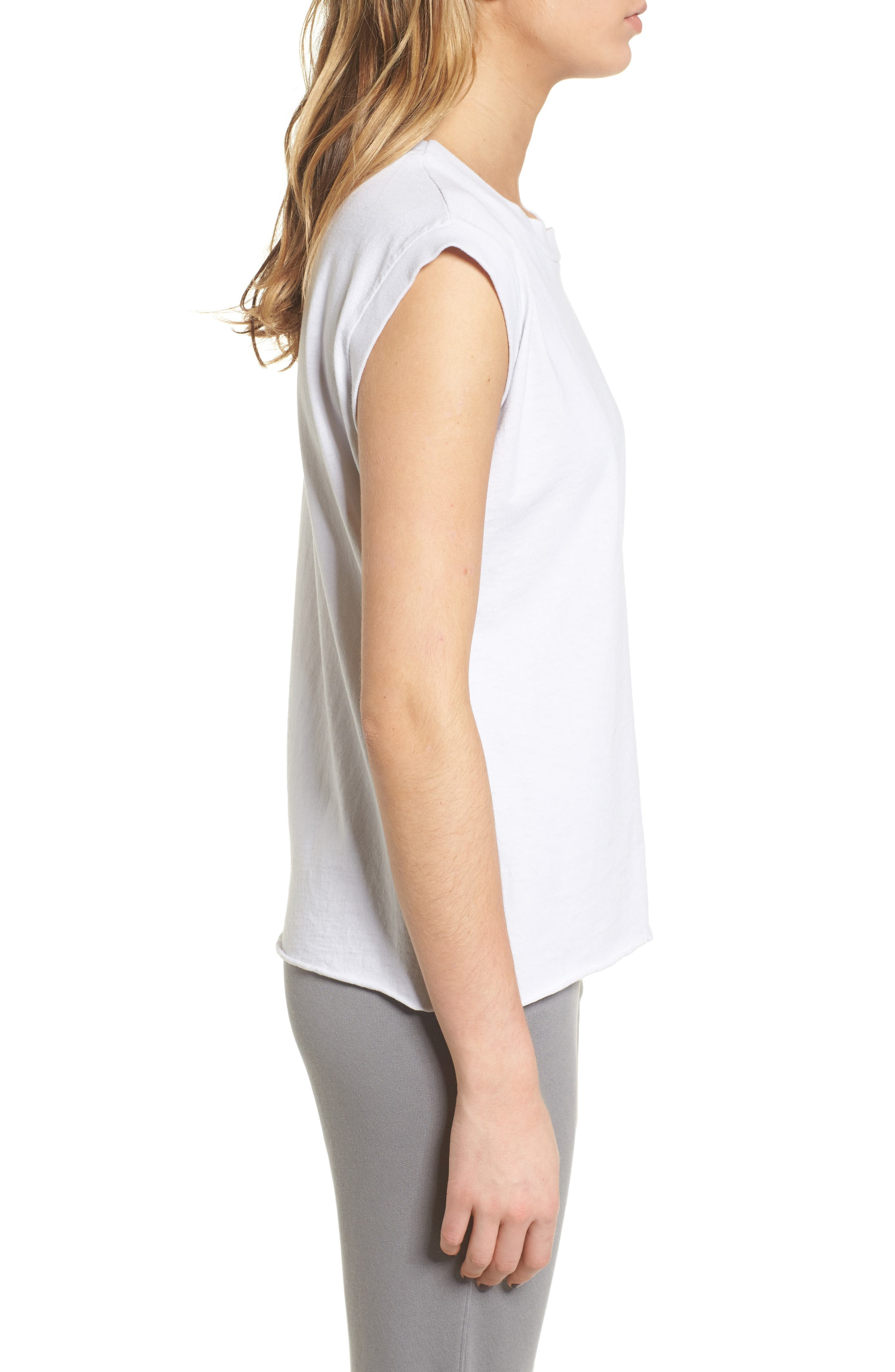 Tee Lab Muscle Tank,                             Alternate thumbnail 3, color,                             Dirty White