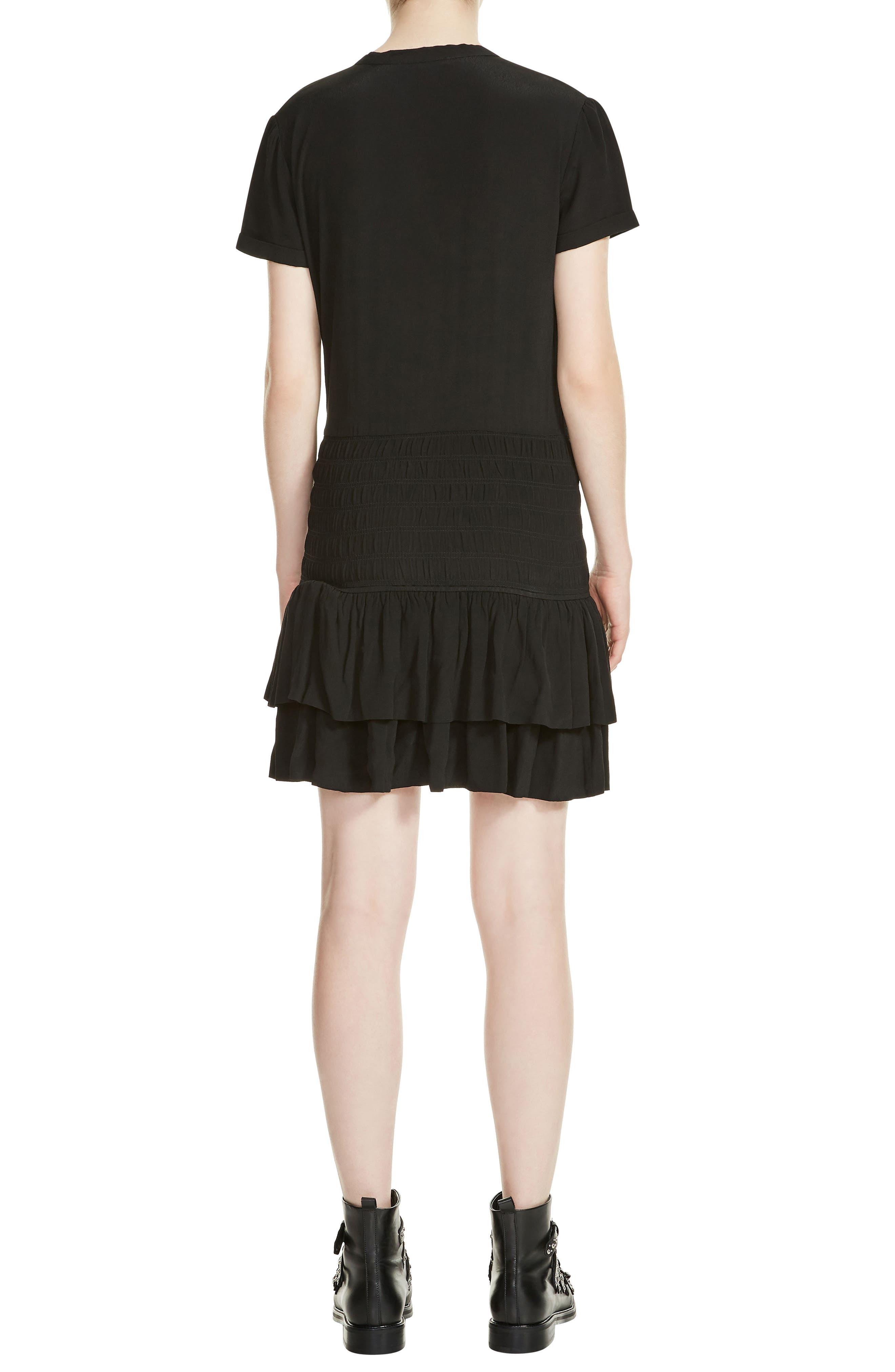Raboa Smocked Dress,                             Alternate thumbnail 2, color,                             Black