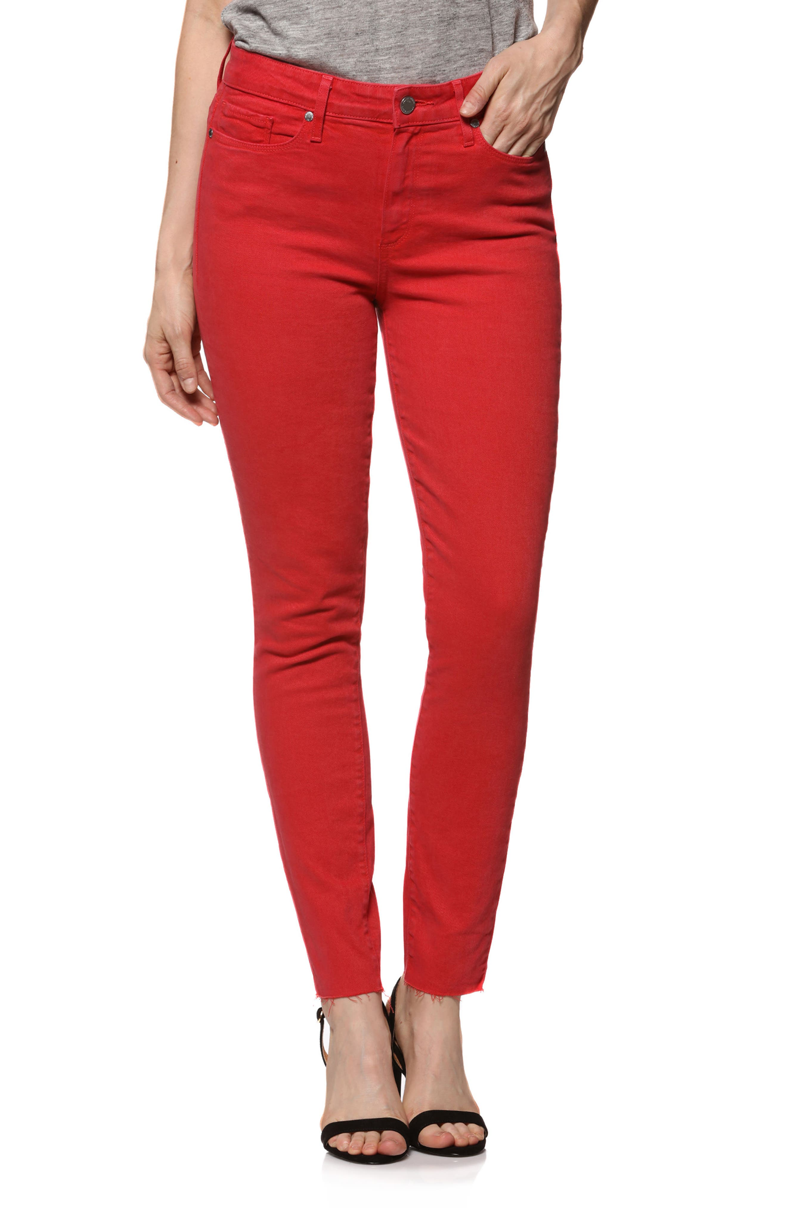 Main Image - PAIGE Hoxton High Waist Ankle Skinny Jeans (Vintage Cherry Bomb)