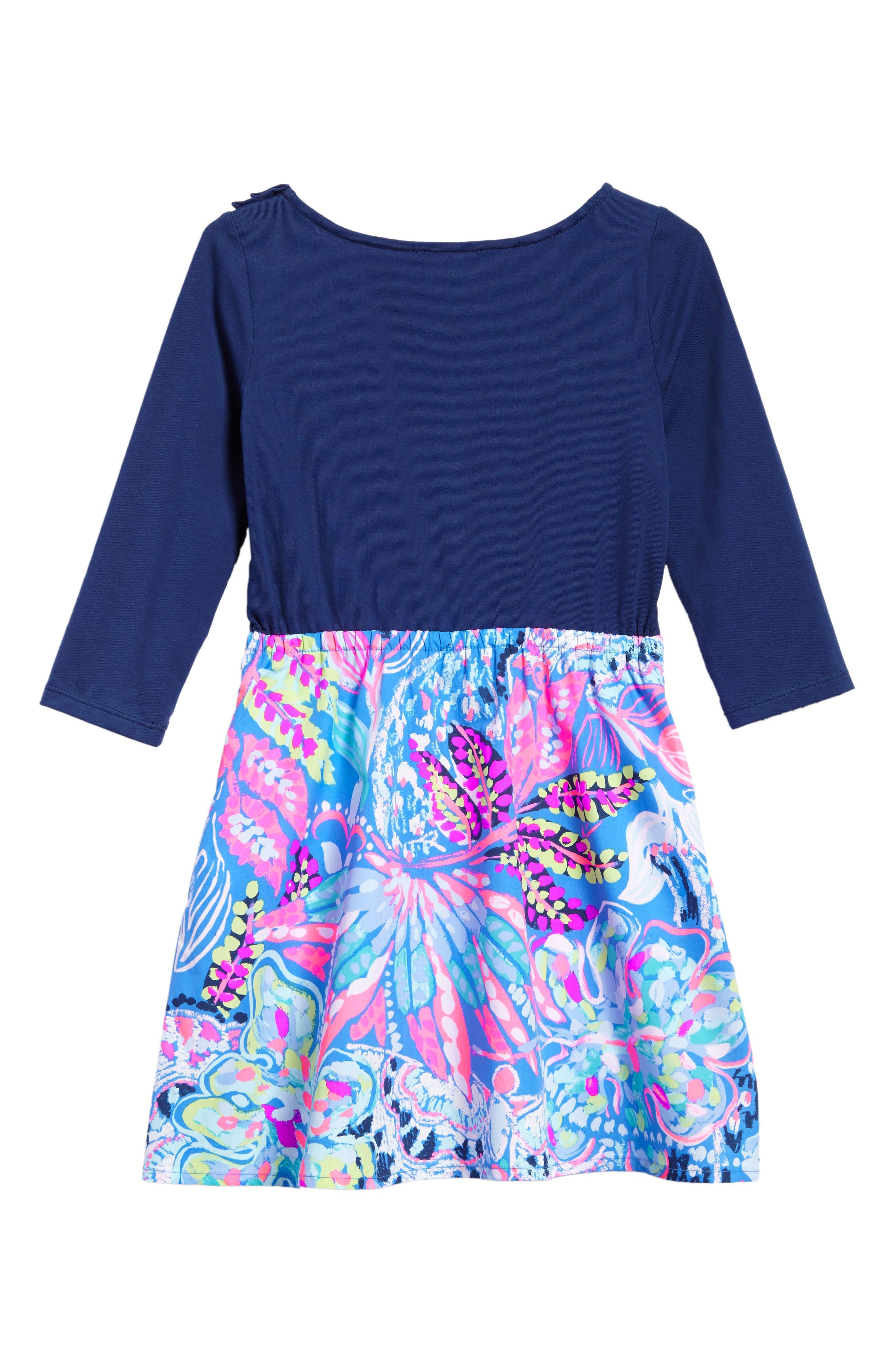 Hazel Fit & Flare Dress,                             Alternate thumbnail 2, color,                             Multi Fantasea Garden