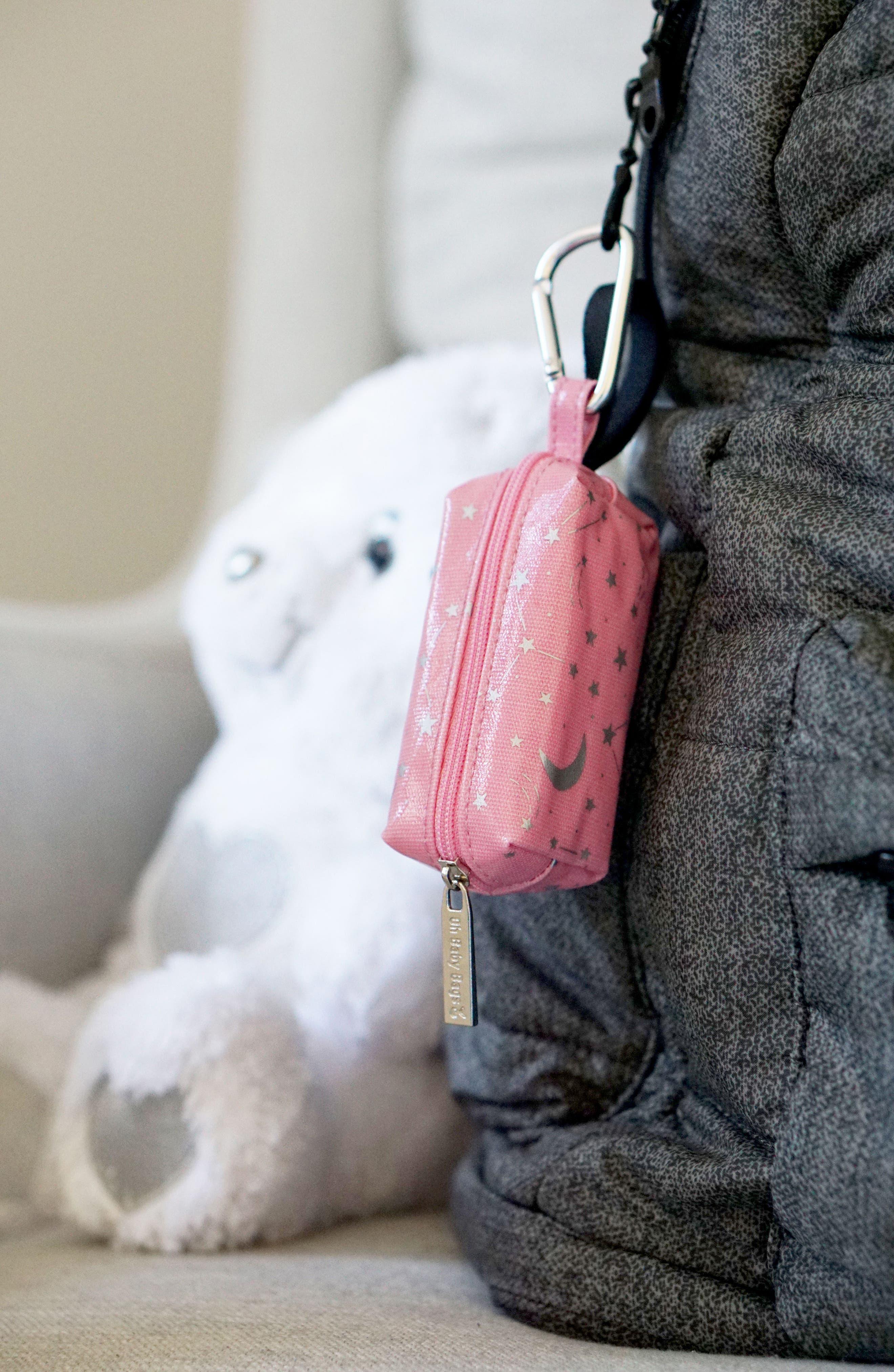 Portable Clip-On Dispenser & Bag Set,                             Alternate thumbnail 4, color,                             Pink/ Grey
