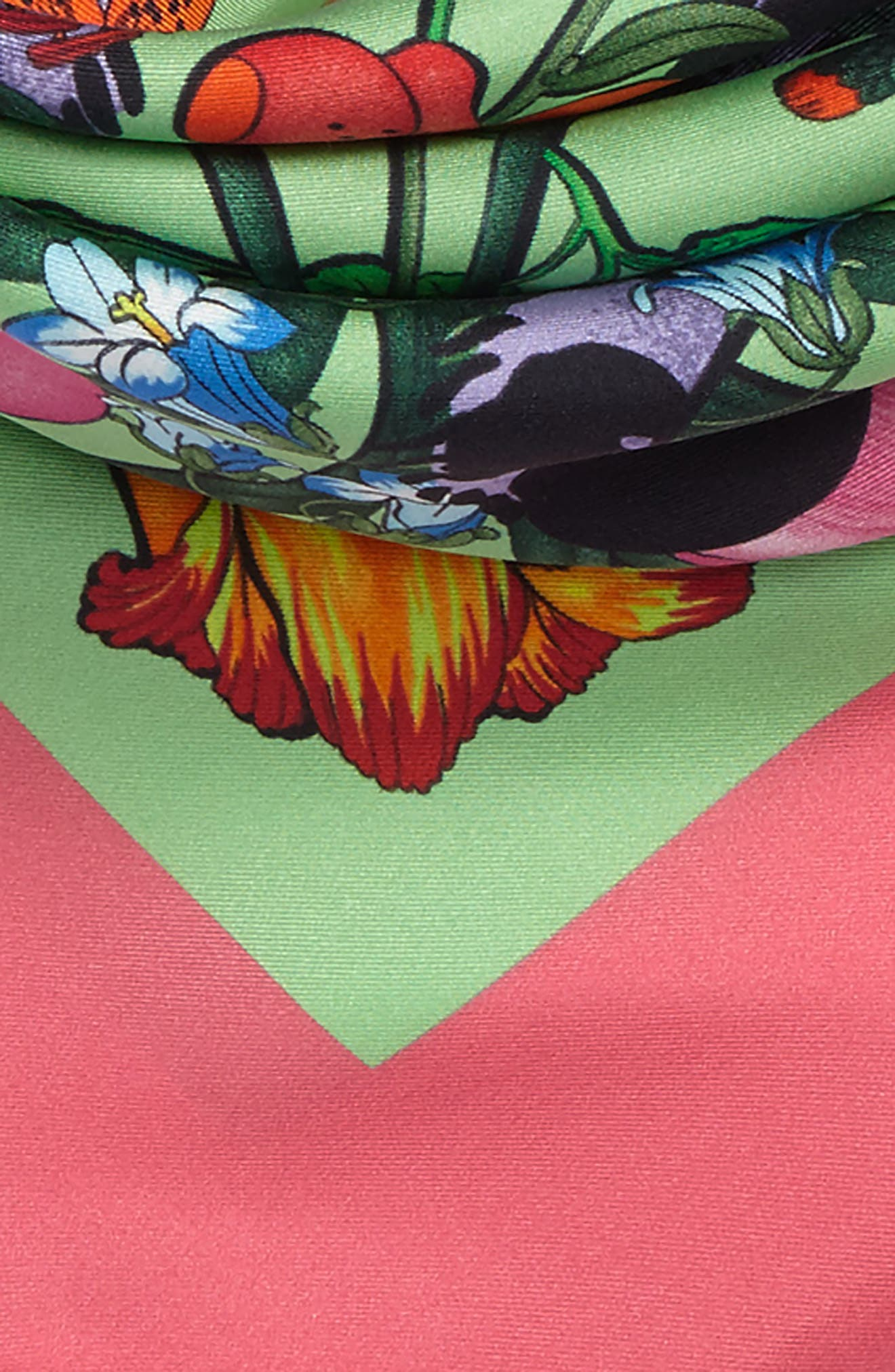 Alternate Image 3  - Gucci Flora Tiger Square Silk Scarf