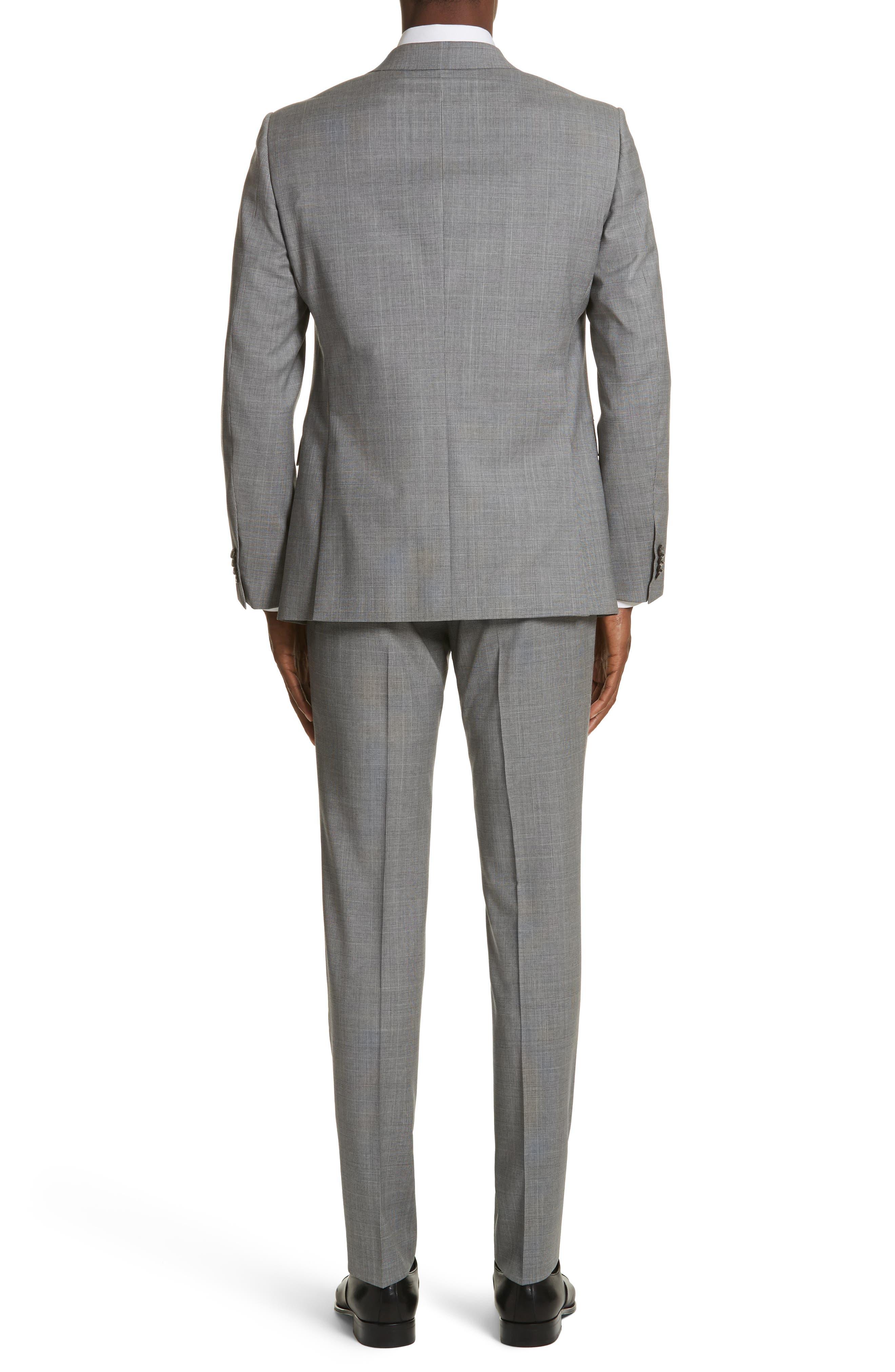 Classic Fit Plaid Wool Suit,                             Alternate thumbnail 2, color,                             Dark Grey Check