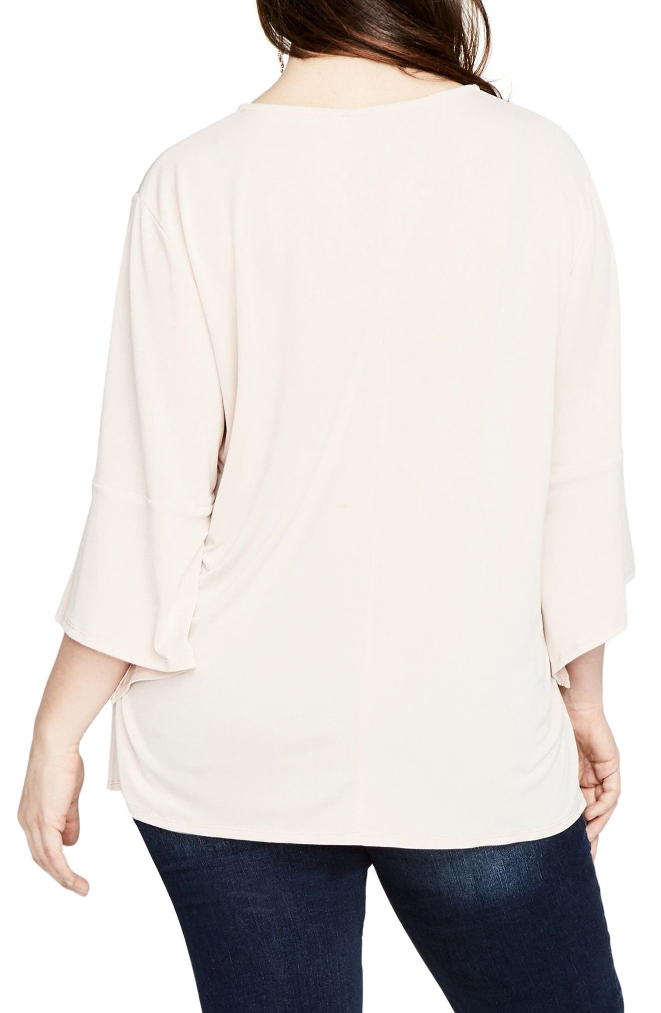 Bell Sleeve Top,                             Alternate thumbnail 2, color,                             Blush