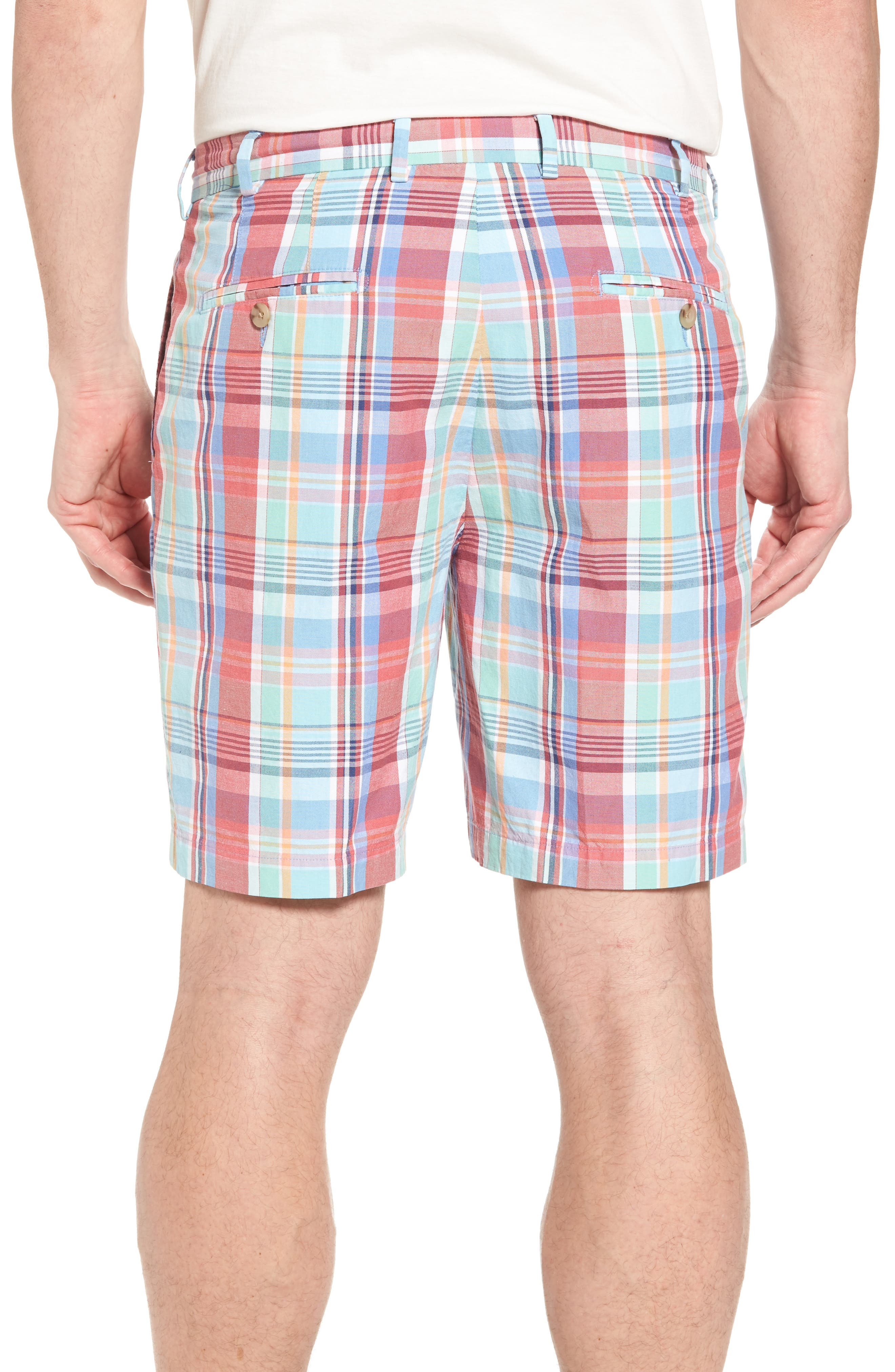 Seaside Madras Plaid Shorts,                             Alternate thumbnail 2, color,                             Cape Red