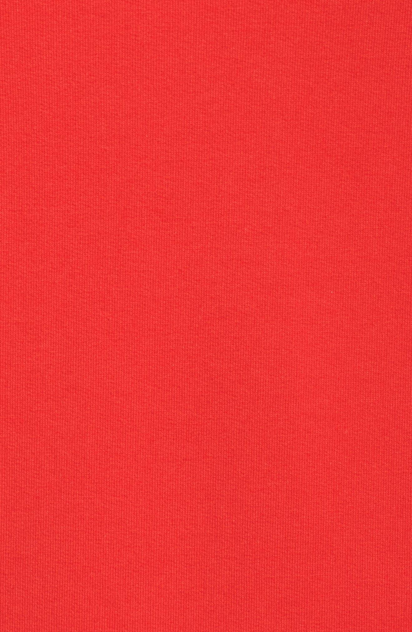Alternate Image 5  - ELVI The Snapdragon Ruffle Sleeve Hoodie Dress (Regular & Plus Size)