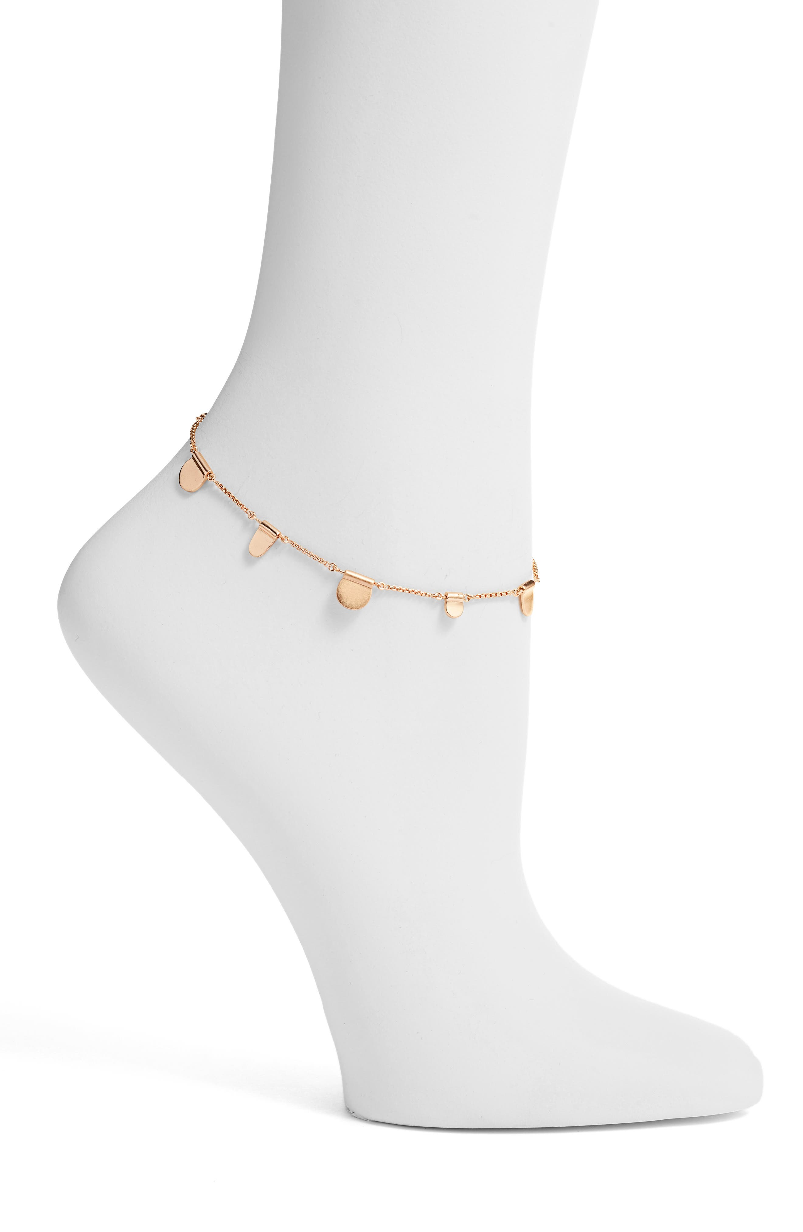 Tabi Anklet,                             Main thumbnail 1, color,                             Rose Gold