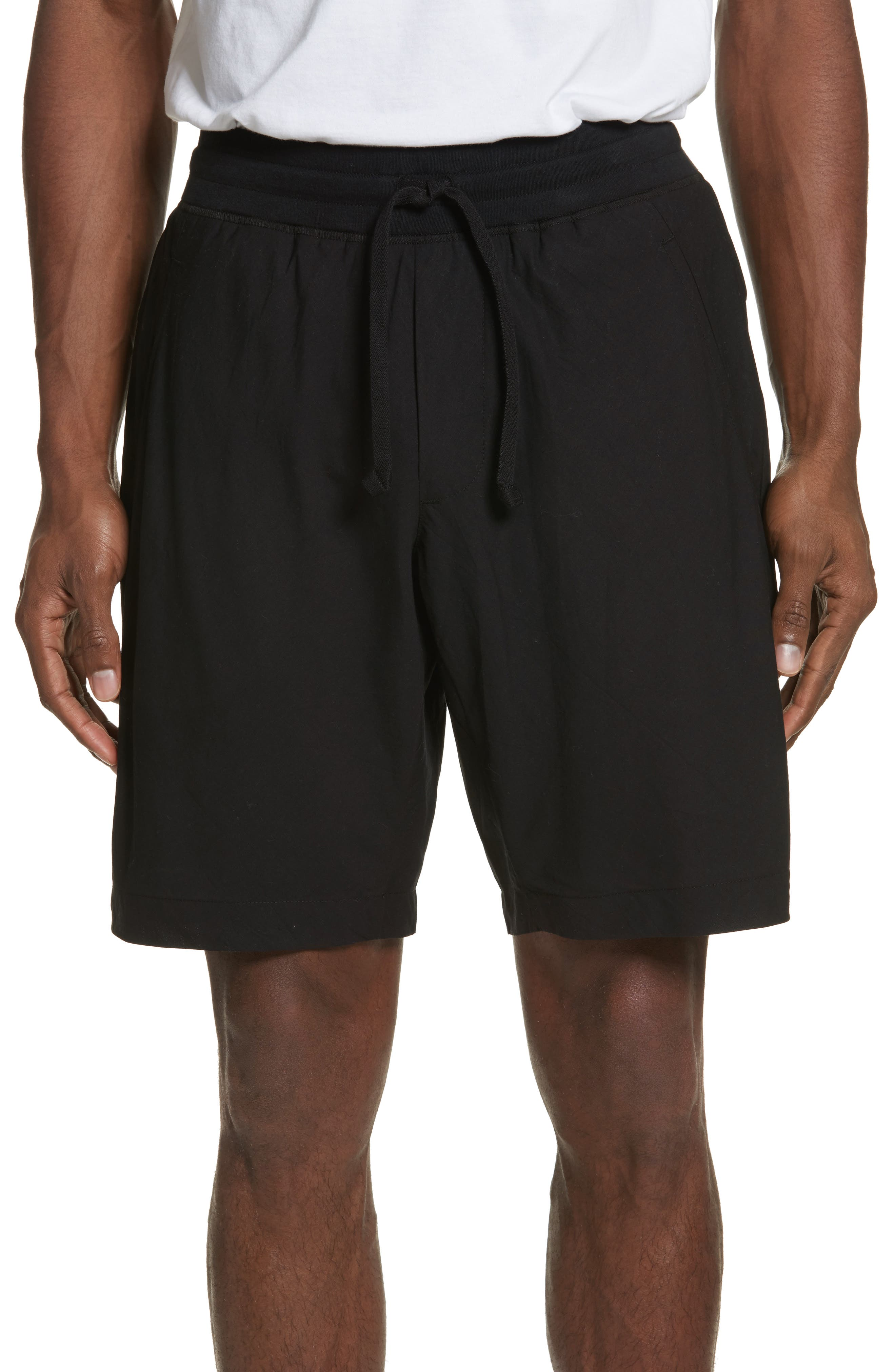 Overlay Shorts,                             Main thumbnail 1, color,                             Black