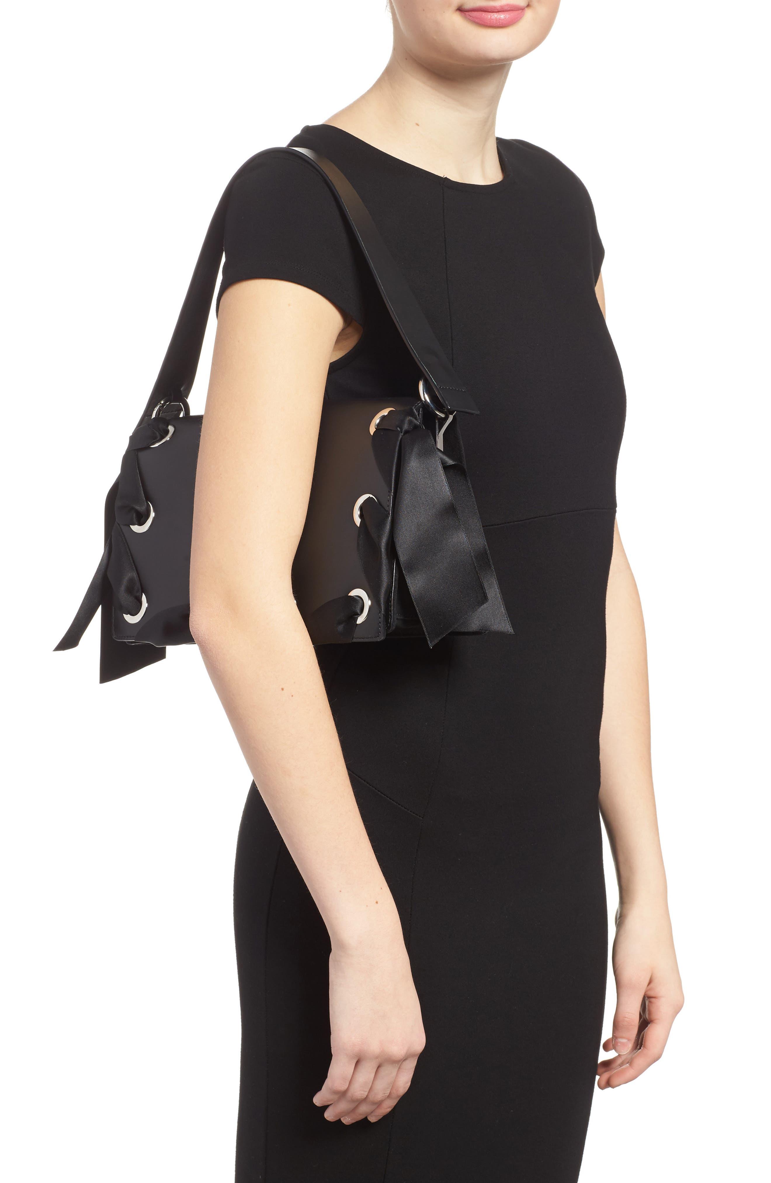 Alternate Image 2  - Topshop Premium Grace Leather Shoulder Bag