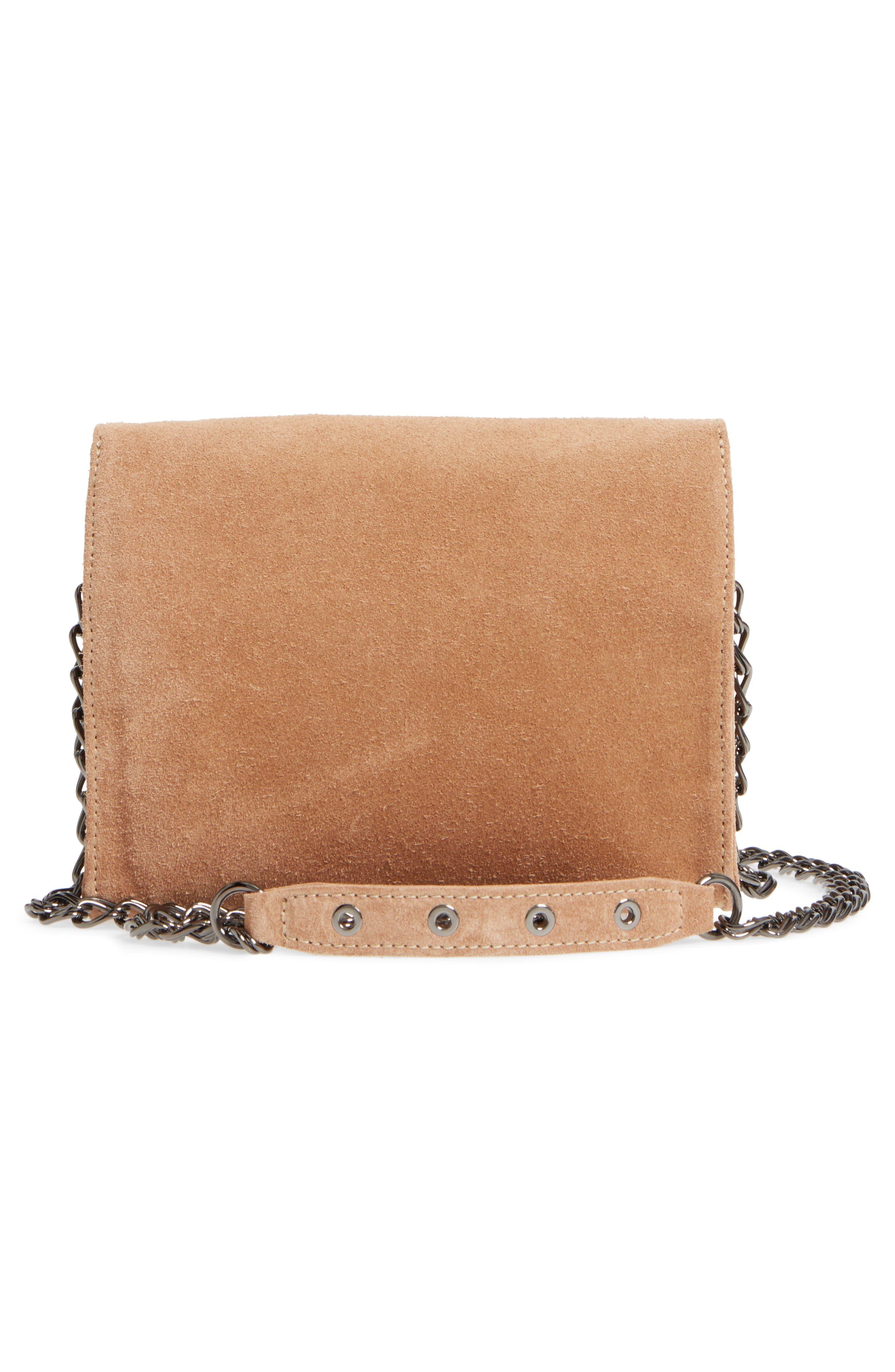 Alternate Image 3  - Longchamp Paris Rocks Fringe Calfskin Suede Crossbody Bag