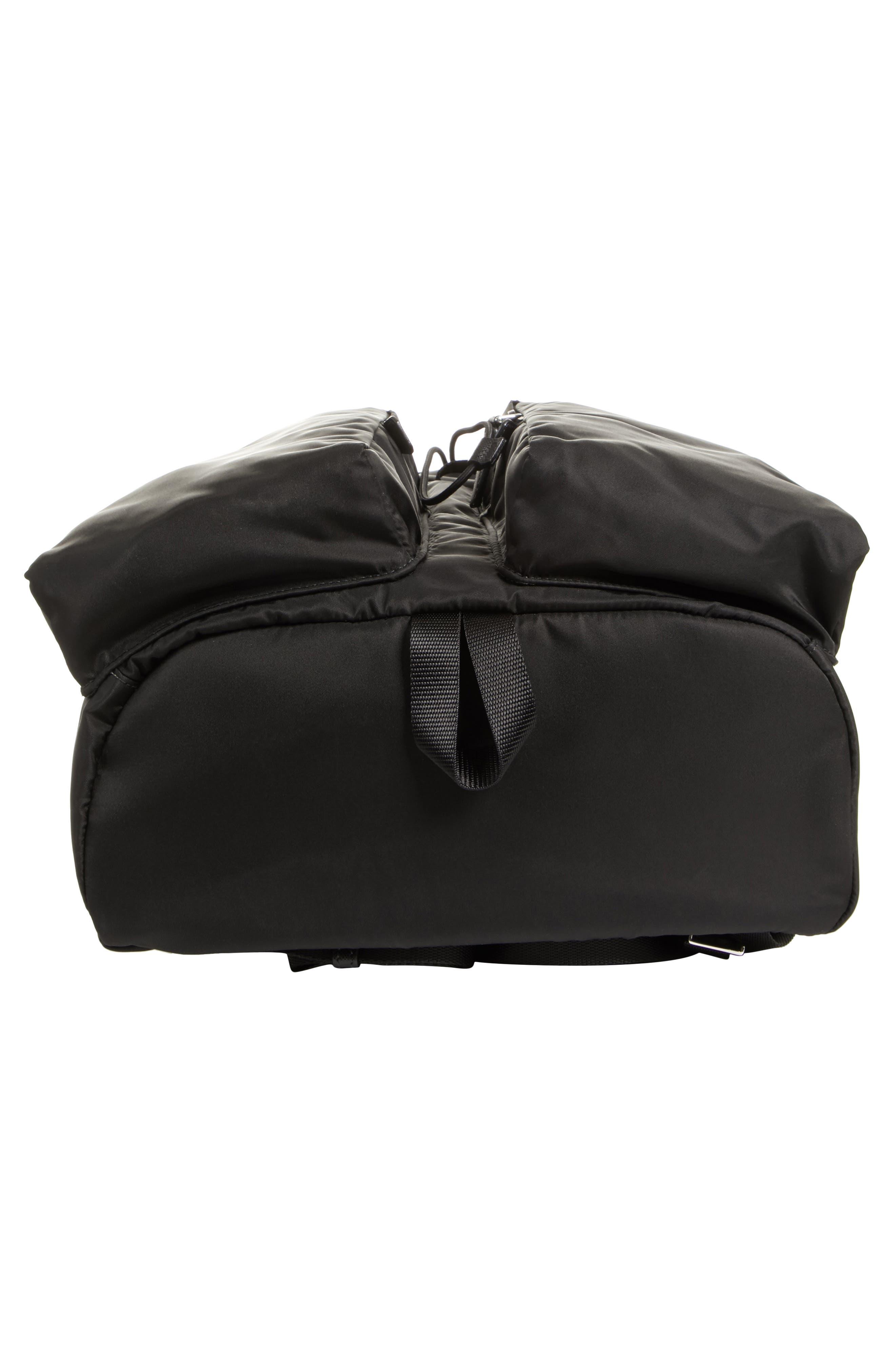 Montagna Flap Double Pocket Backpack,                             Alternate thumbnail 6, color,                             Nero
