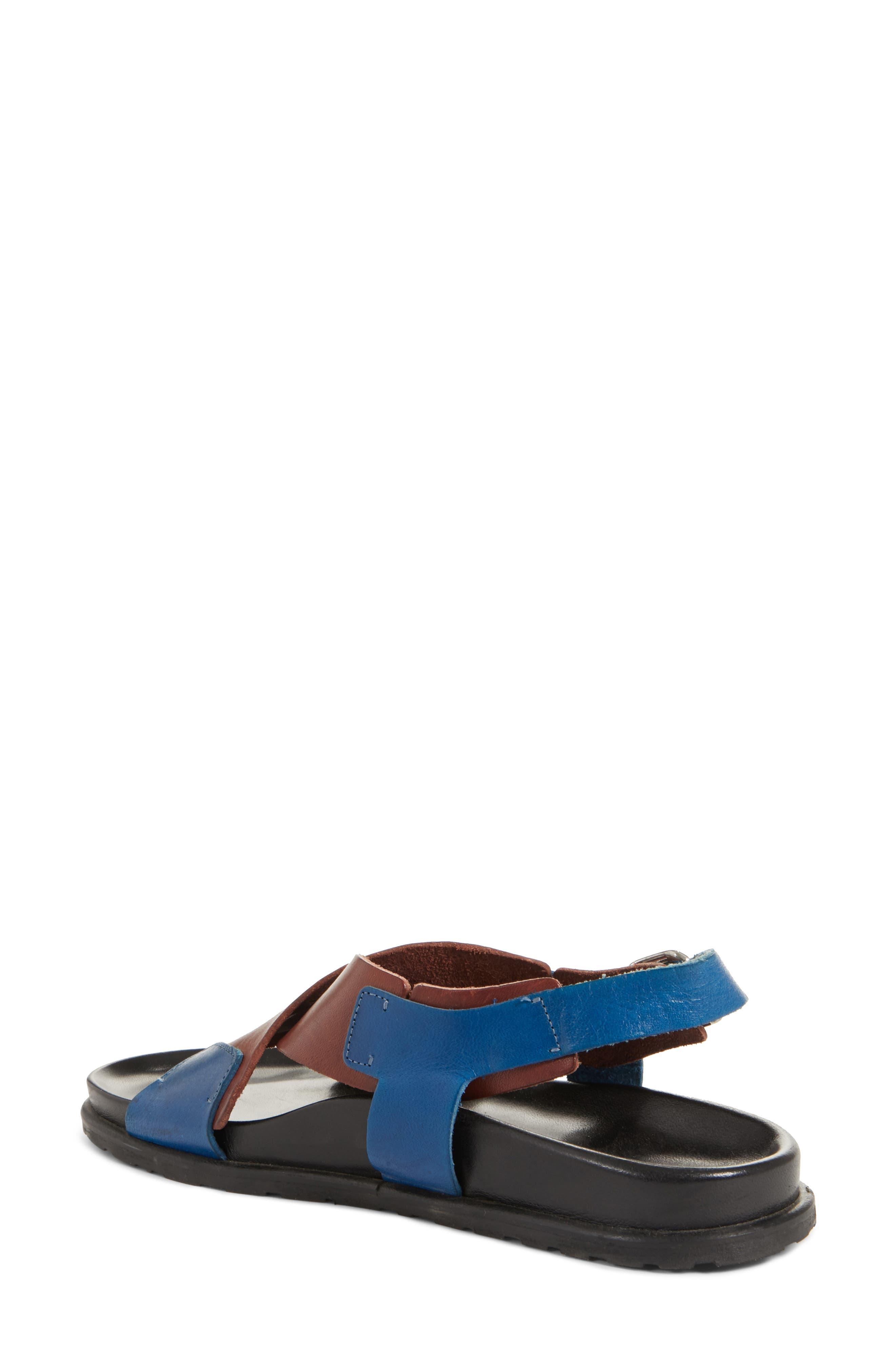 Bicolor Strappy Sandal,                             Alternate thumbnail 2, color,                             5Marsala/Denim