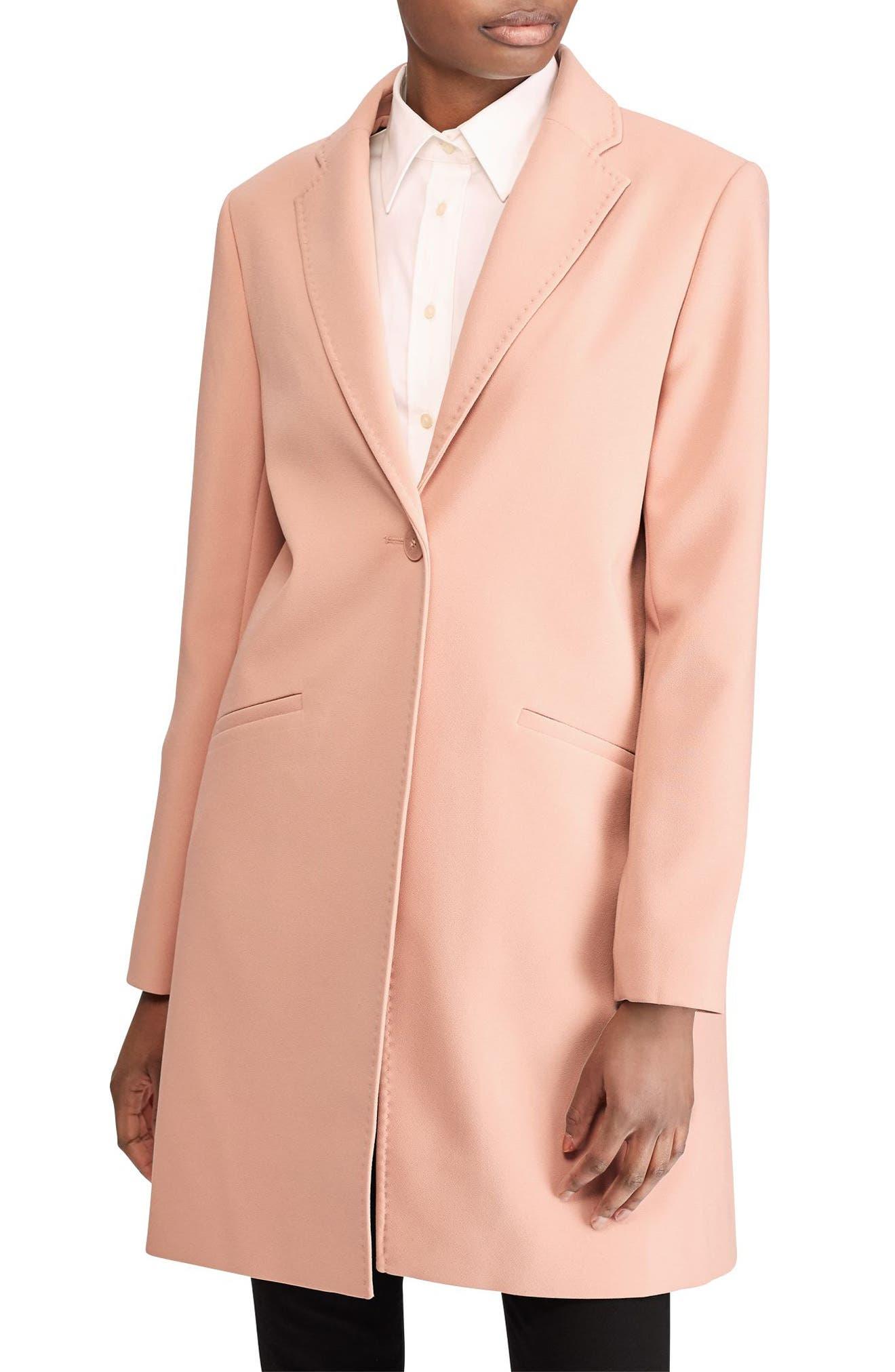 Lauren Ralph Lauren Crepe Reefer Coat (Petite)