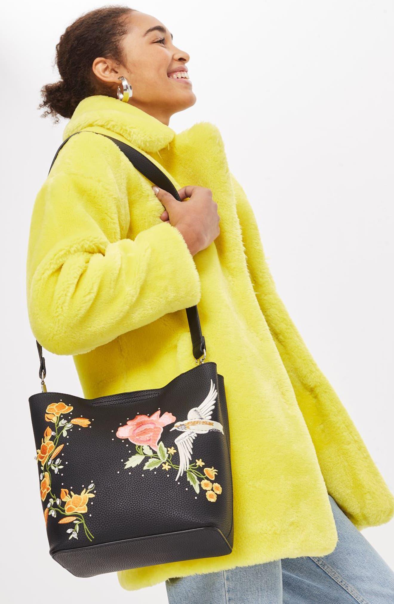 Alternate Image 2  - Topshop Embellished Faux Leather Tote Bag