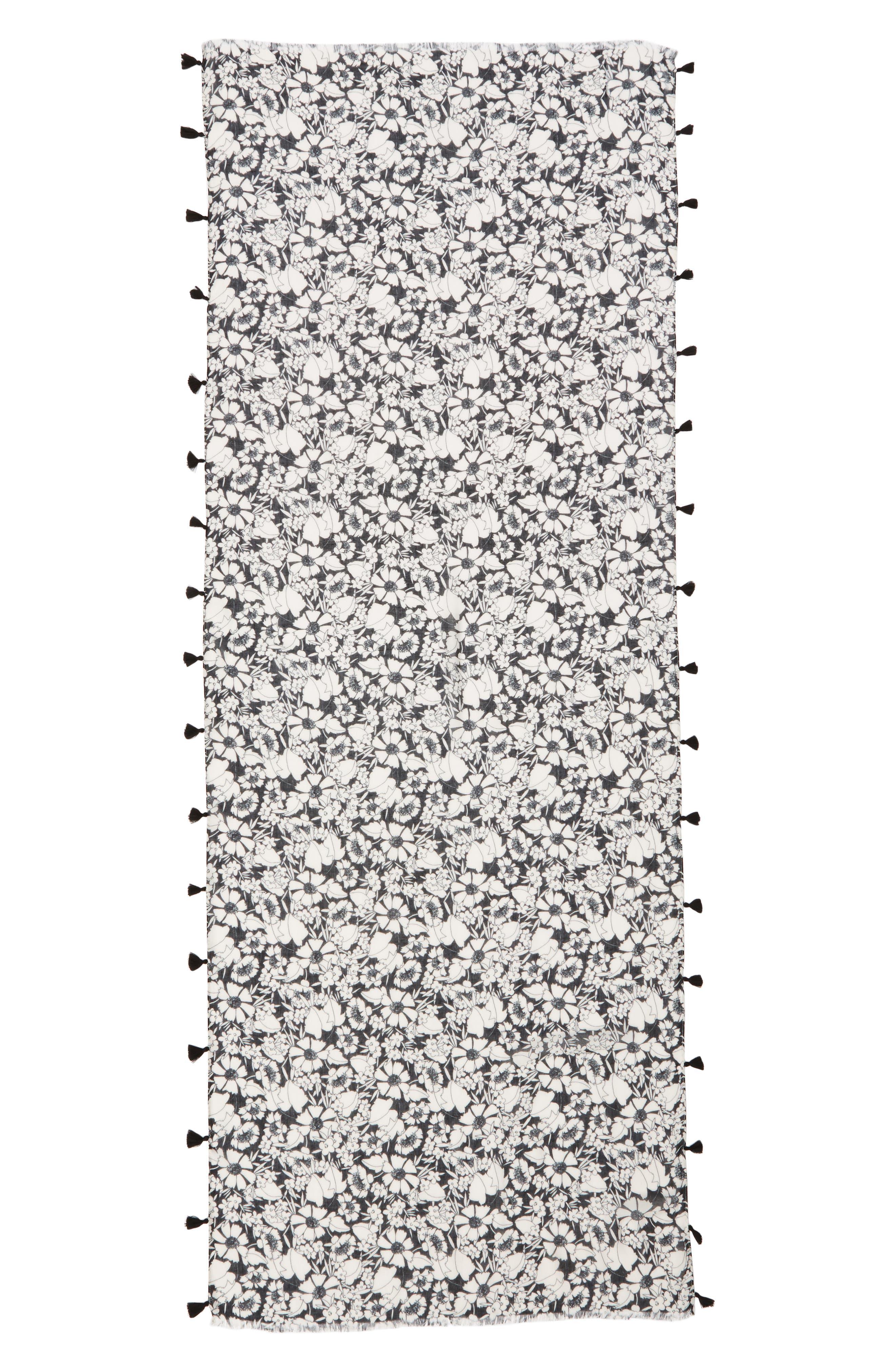Alternate Image 3  - Rebecca Minkoff Beach Flower Tasseled Scarf