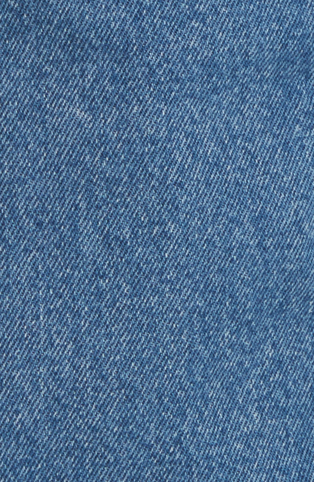 Fisherman Wide Leg Stonewash Jeans,                             Alternate thumbnail 5, color,                             Blue