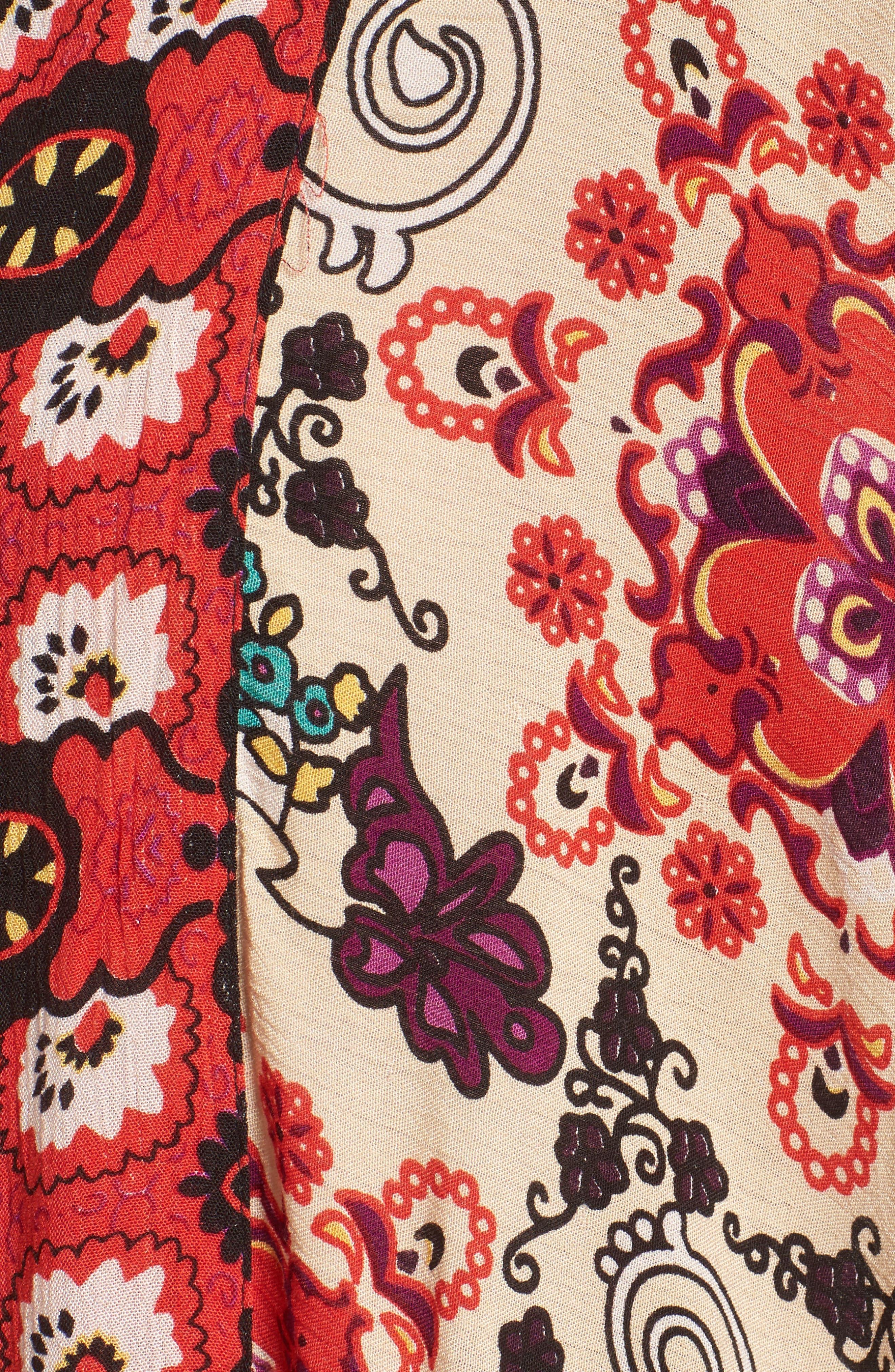 Little Wing Kimono,                             Alternate thumbnail 5, color,                             Plum Combo