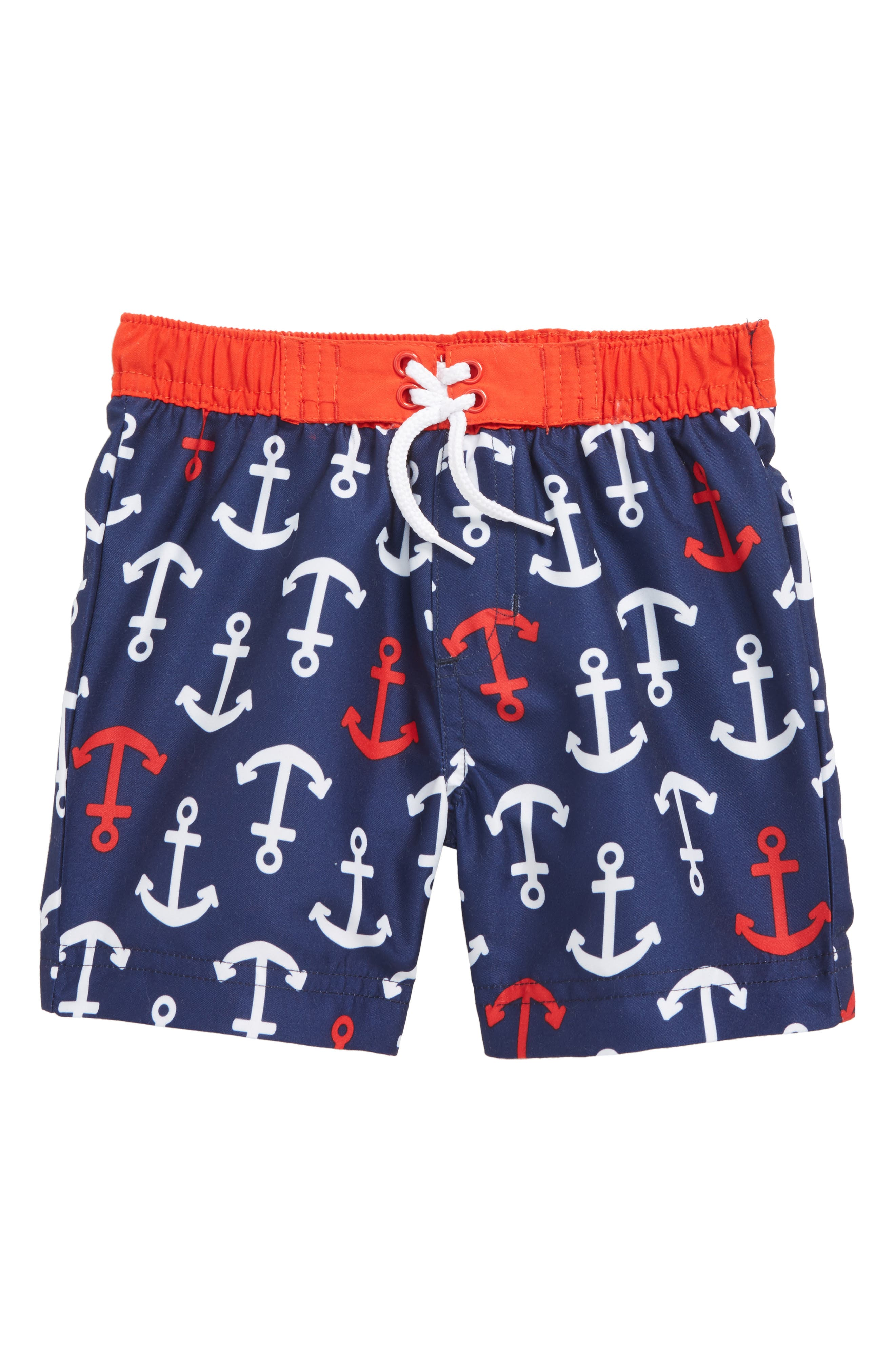Little Me Anchor Swim Trunks (Baby Boys)