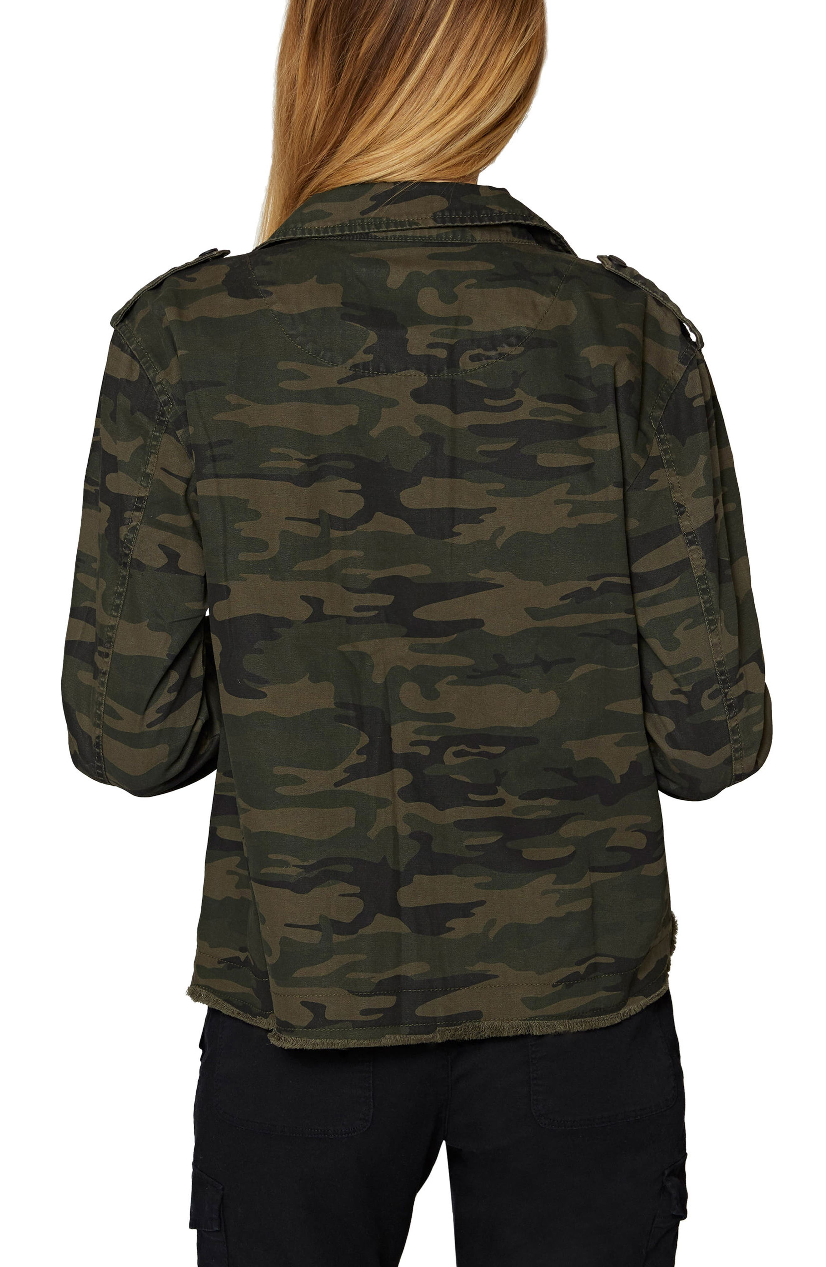 In the Fray Military Jacket,                             Alternate thumbnail 2, color,                             Mother Nature Camo
