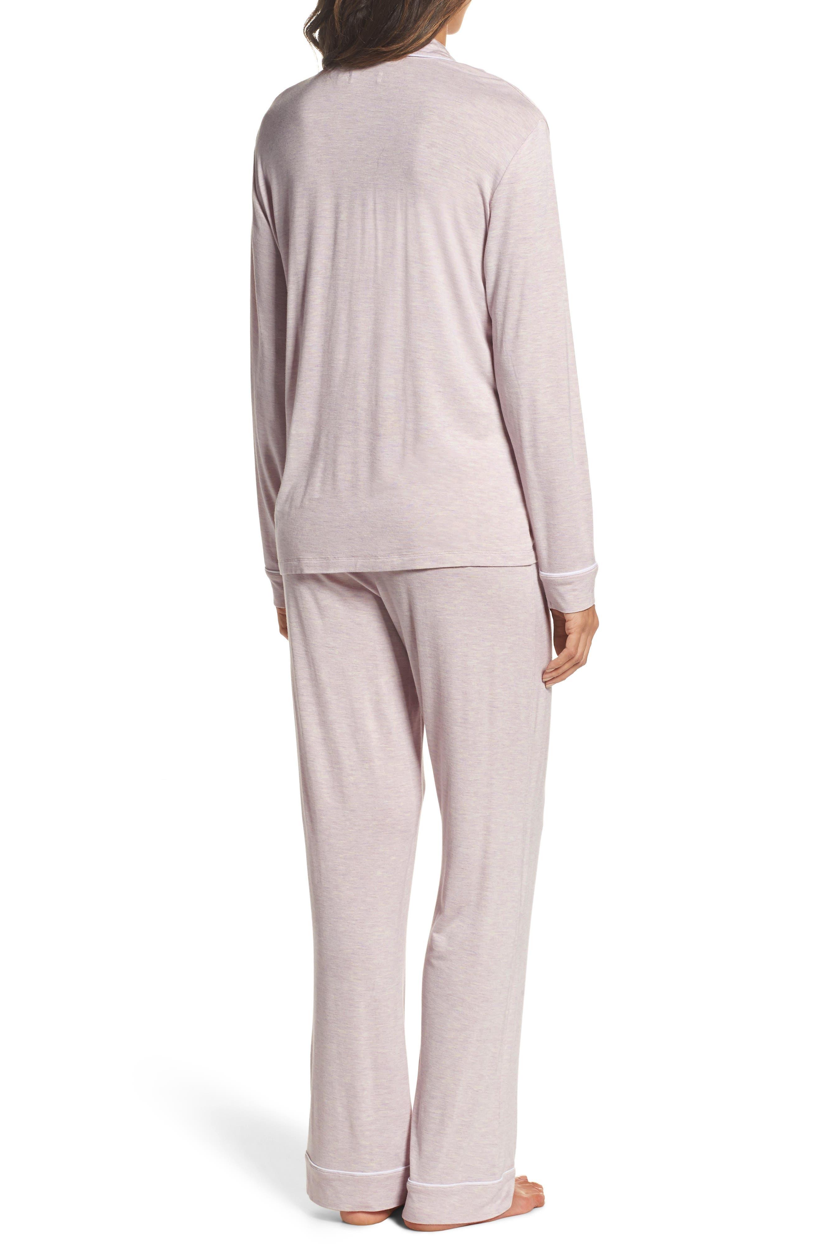 Lenon Jersey Pajamas,                             Alternate thumbnail 2, color,                             Lavender Fog Heather