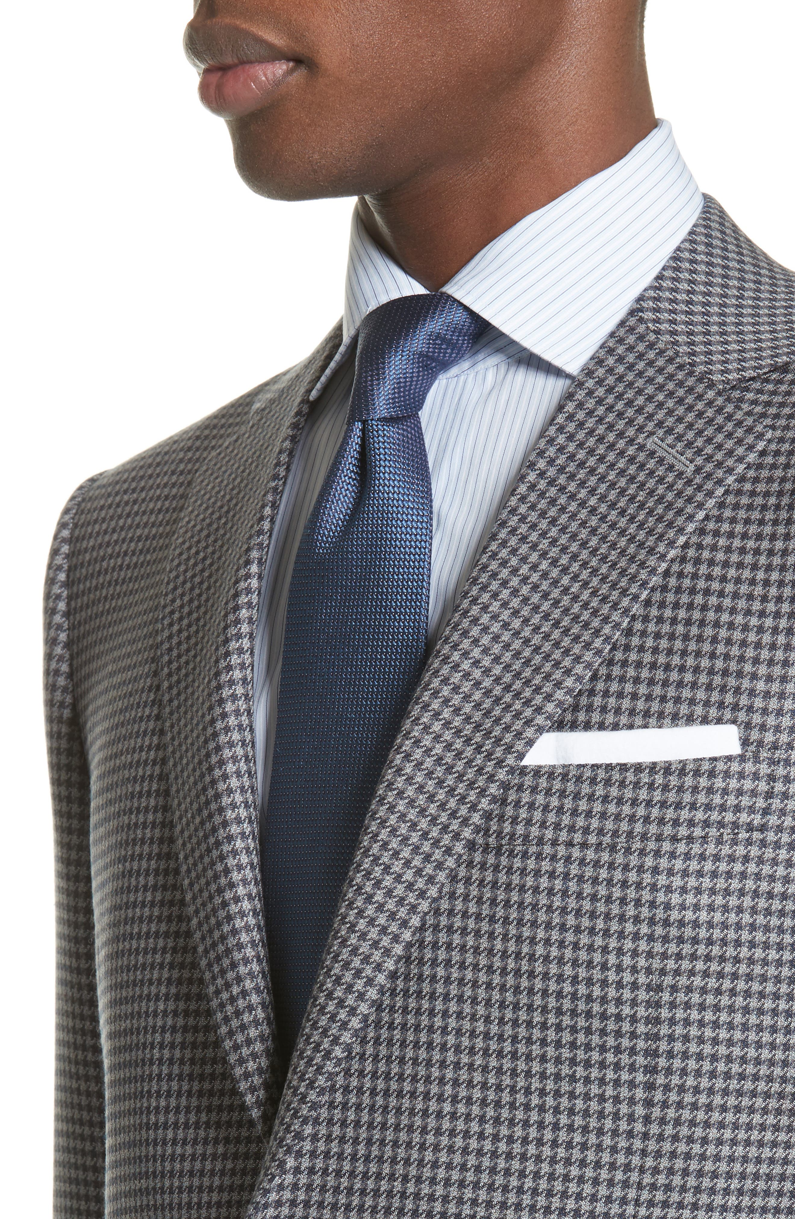 Classic Fit Houndstooth Wool Sport Coat,                             Alternate thumbnail 4, color,                             Blue